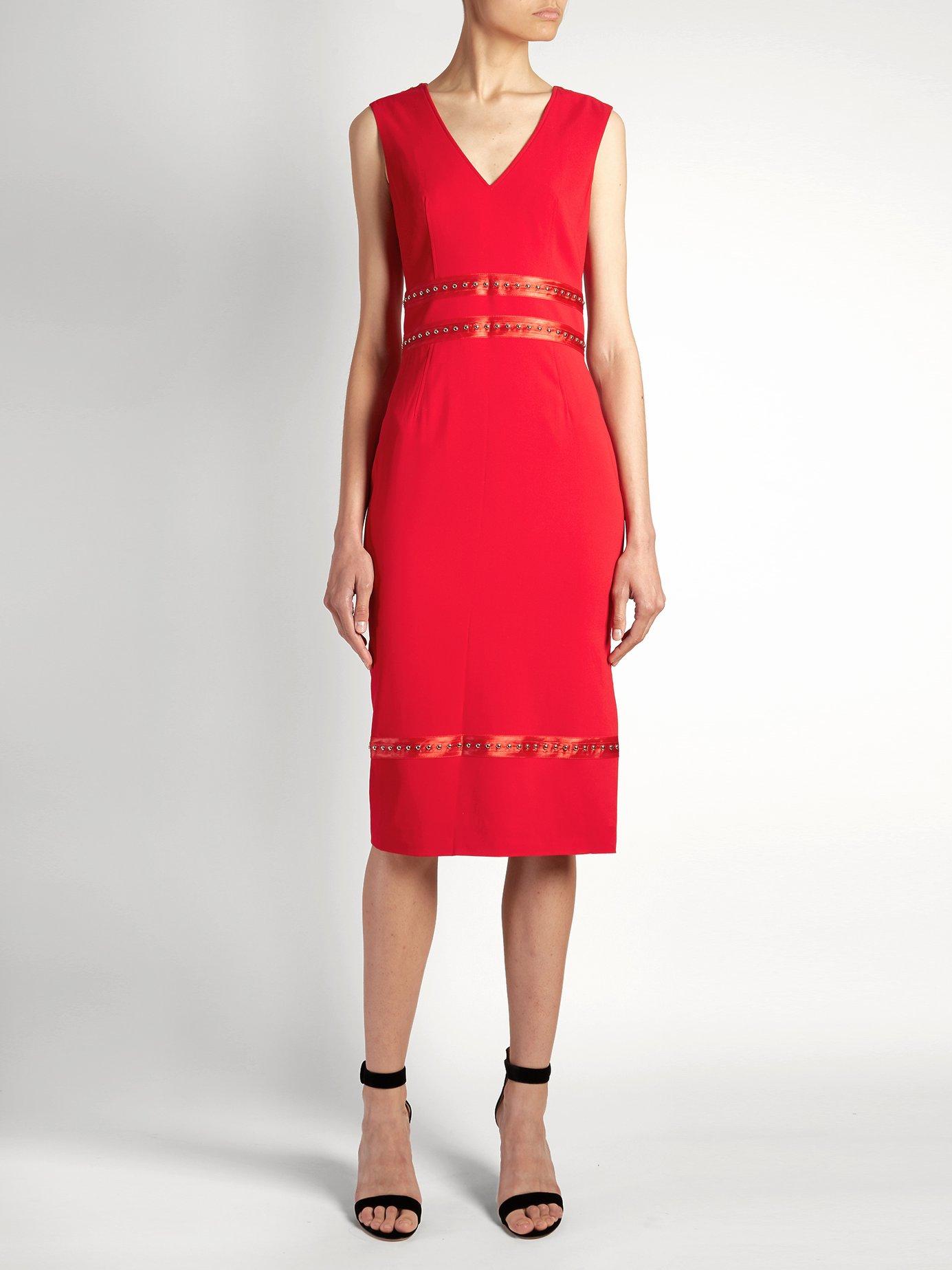 Burke stud-embellished crepe dress by Altuzarra