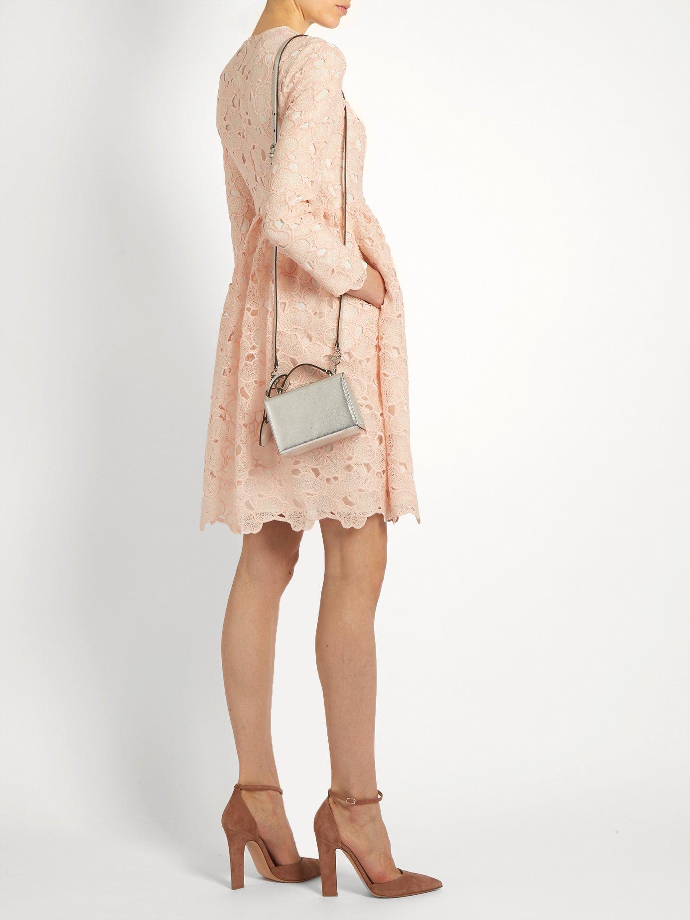 Axelia cloud-lace long-sleeved dress by Huishan Zhang