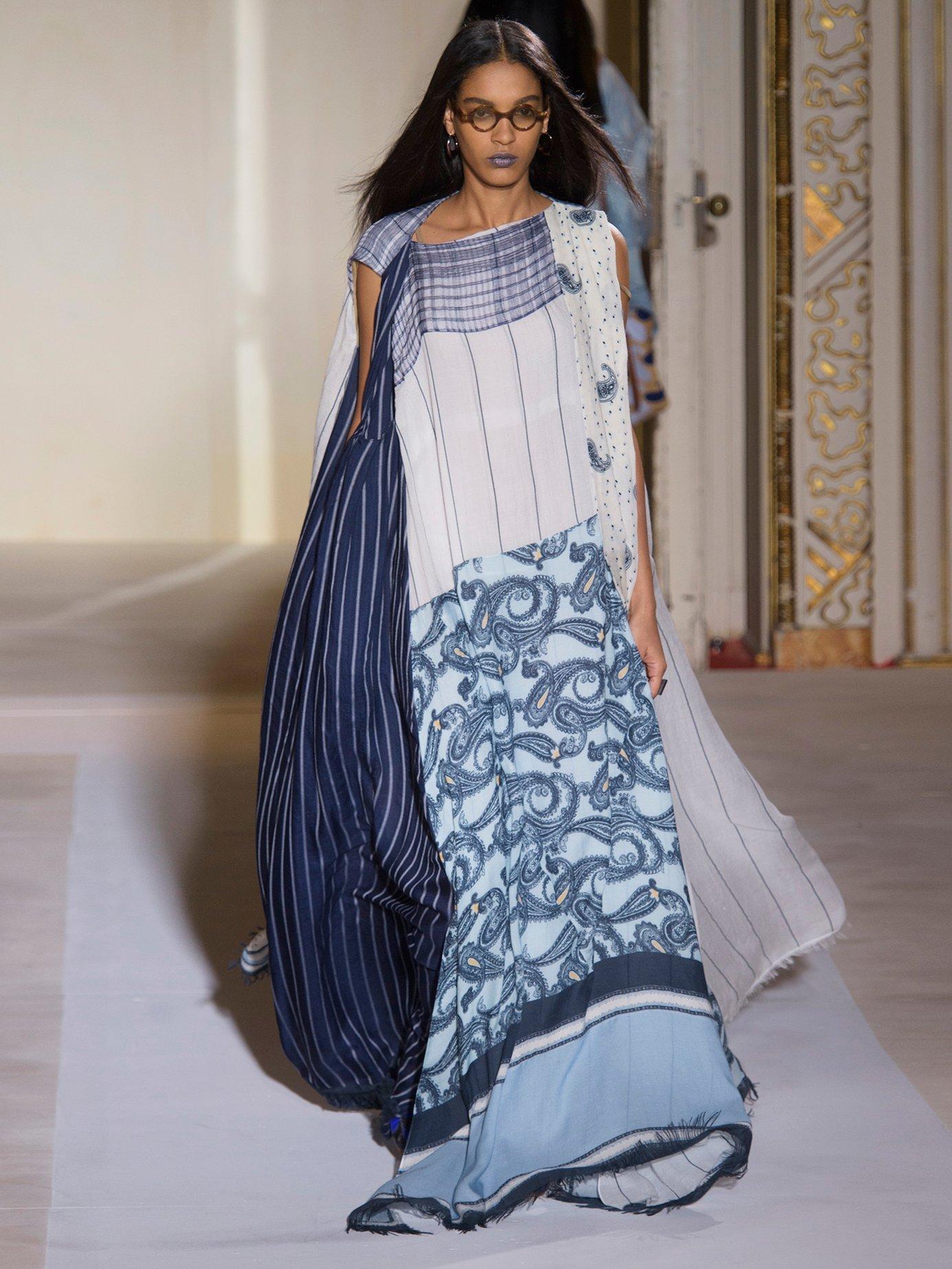 Dulcia paisley-print boat-neck dress by Acne Studios