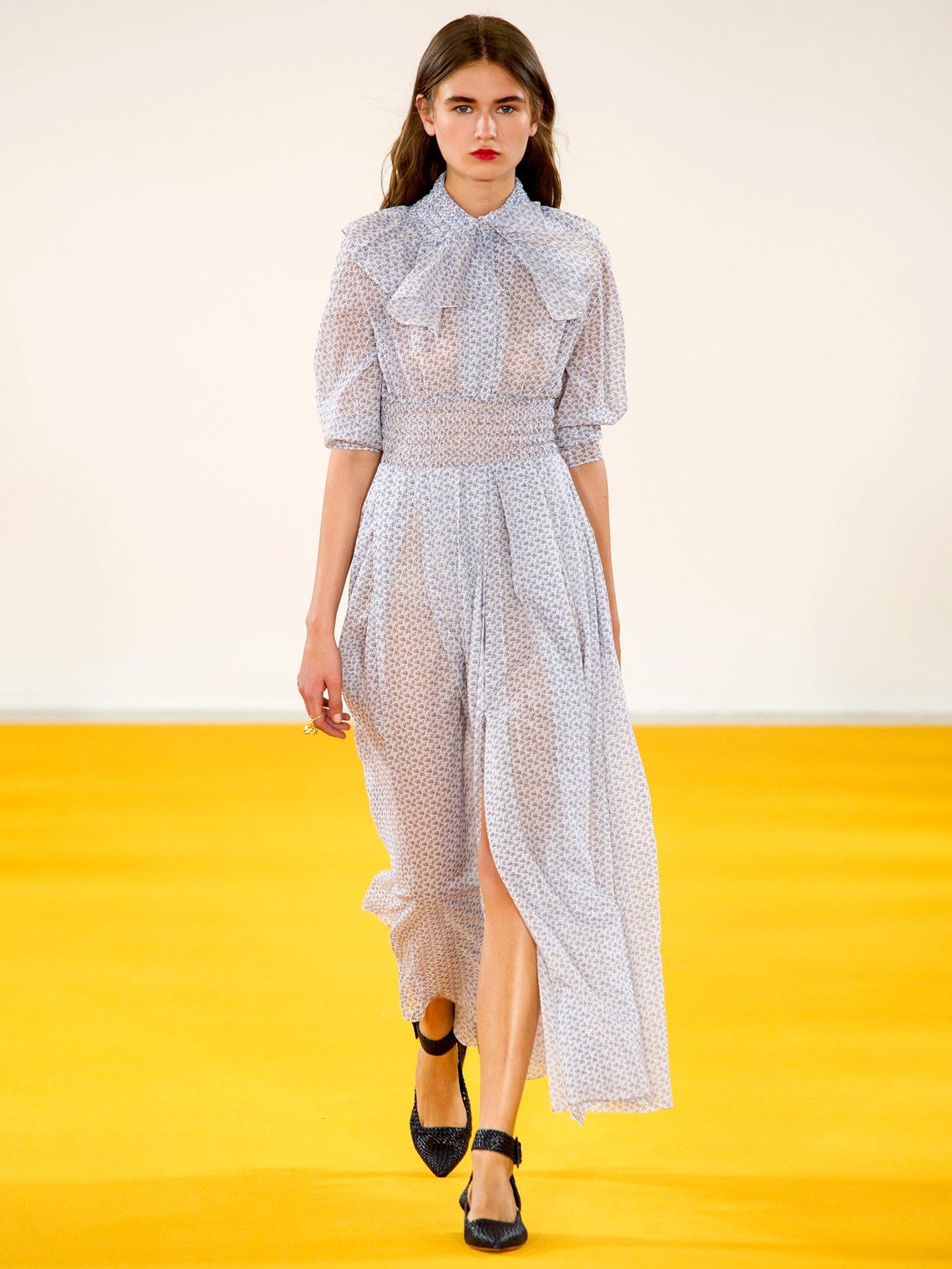 Madeleine floral-print smocked-waist dress by Emilia Wickstead