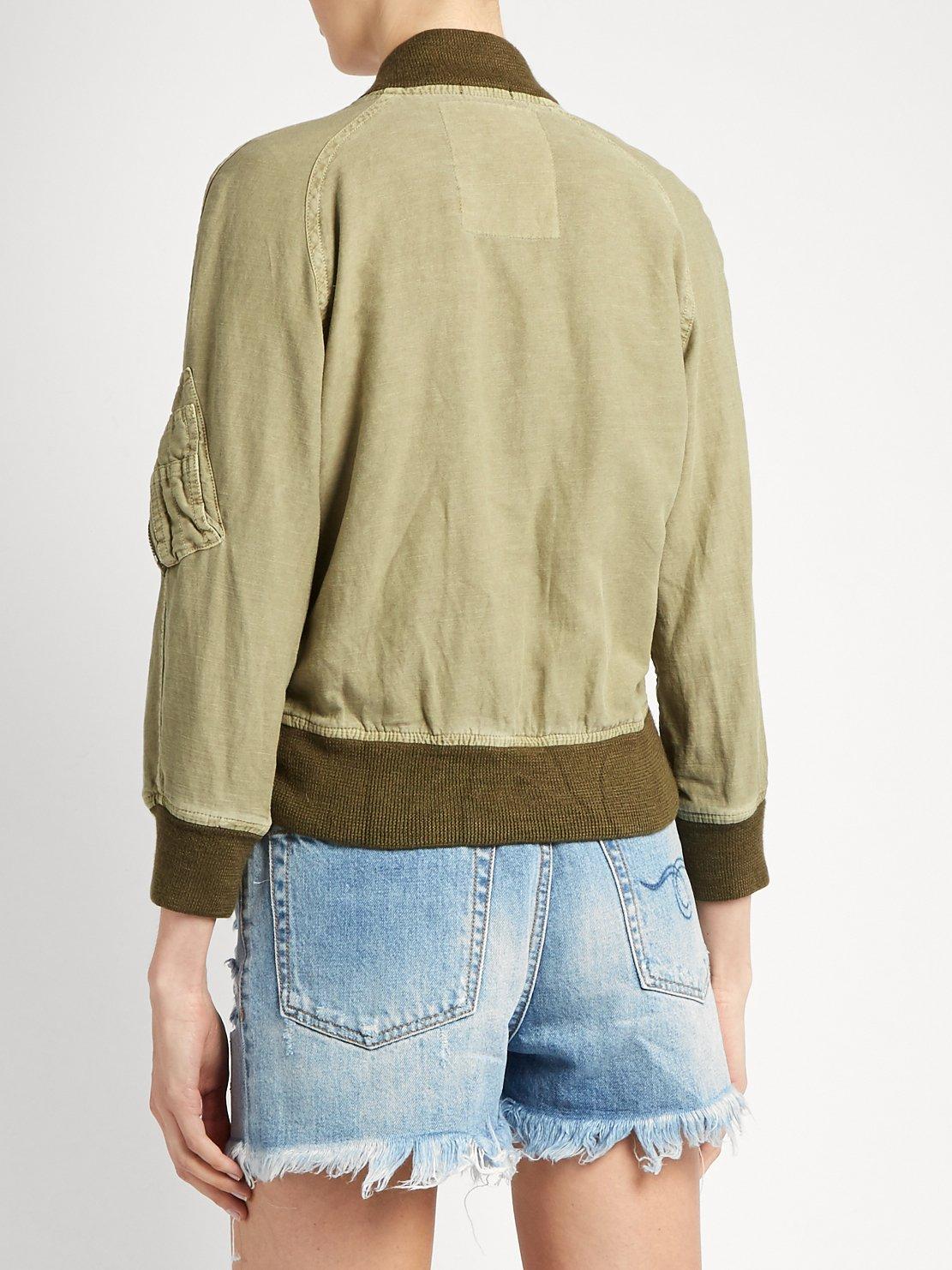 Shrunken-fit cotton-blend flight jacket by R13
