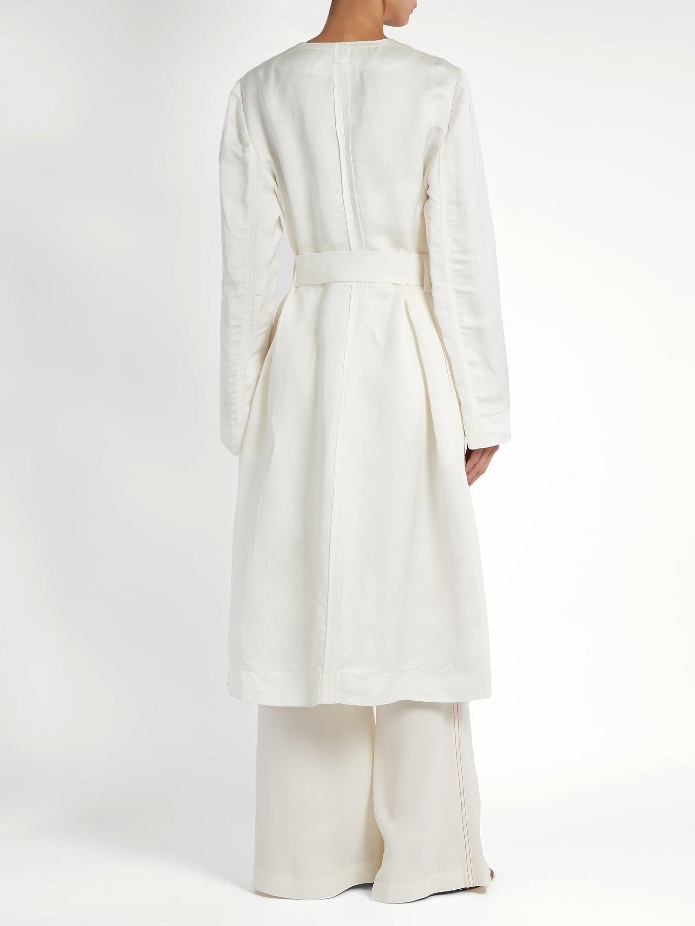Archer tie-waist linen-blend coat by Elizabeth And James