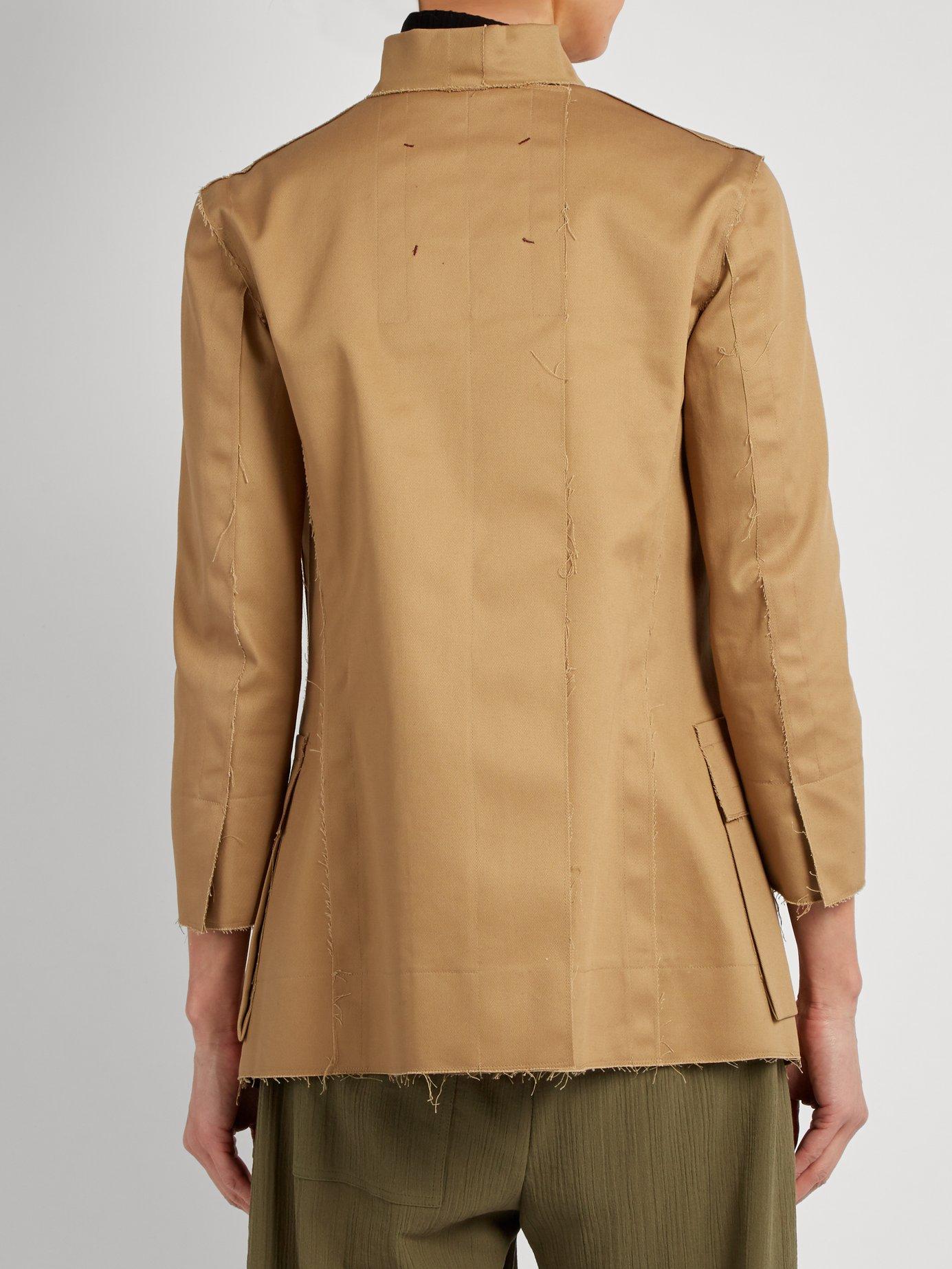 Raw-edge cotton-blend jacket by Mafalda Von Hessen