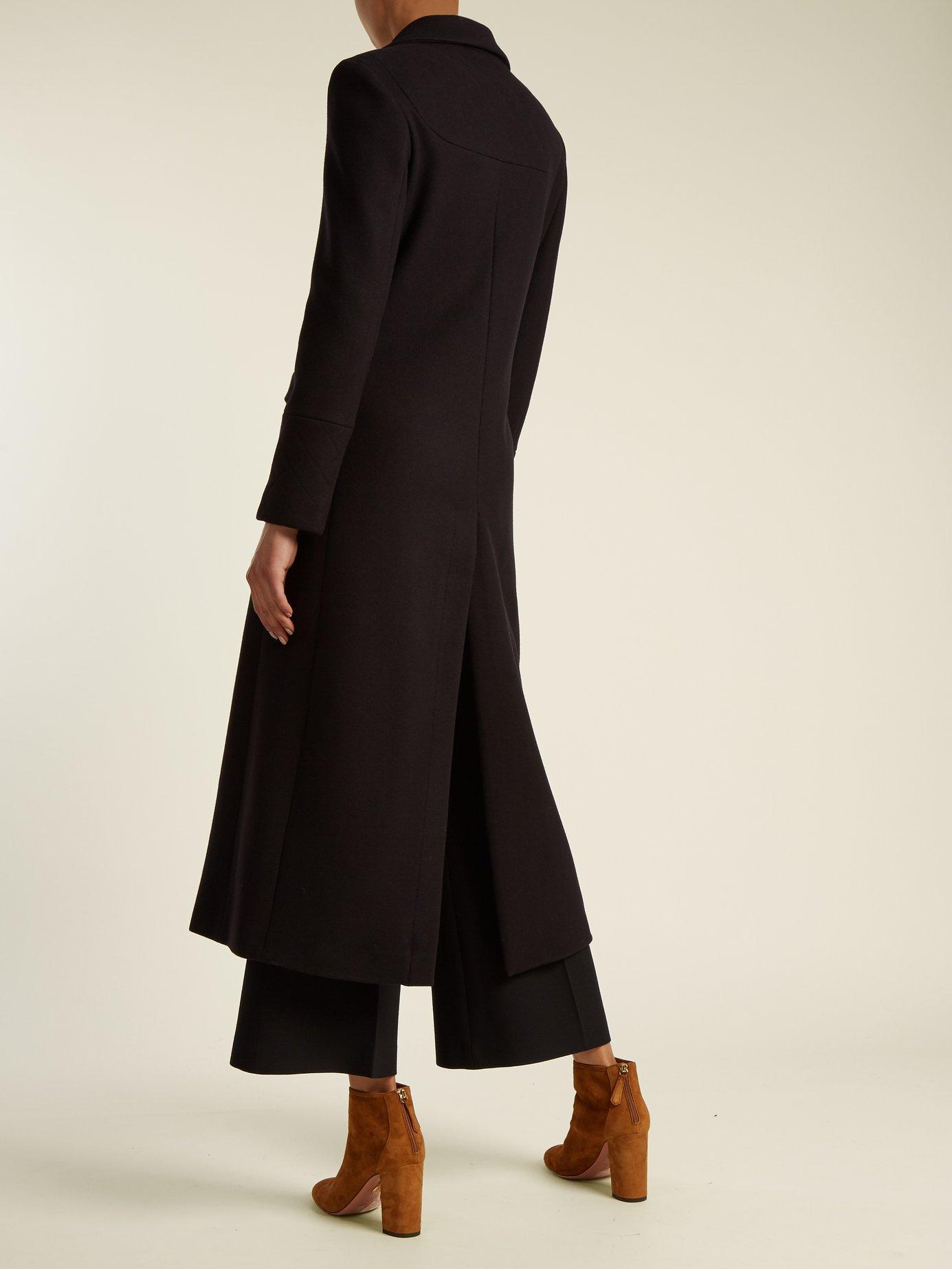 Delauney single-breasted wool-blend coat by Osman