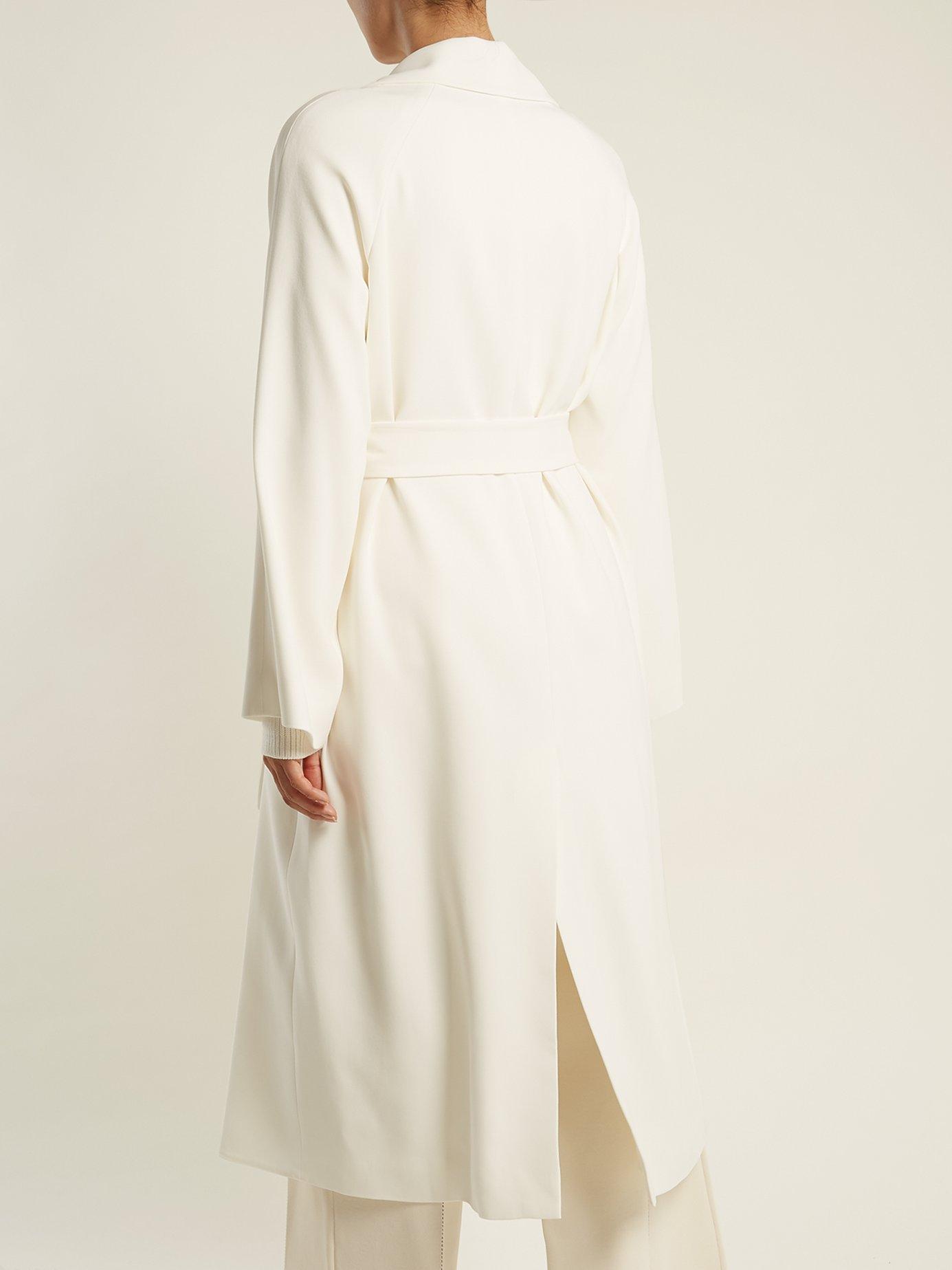 Bruner tie-waist crepe coat by The Row