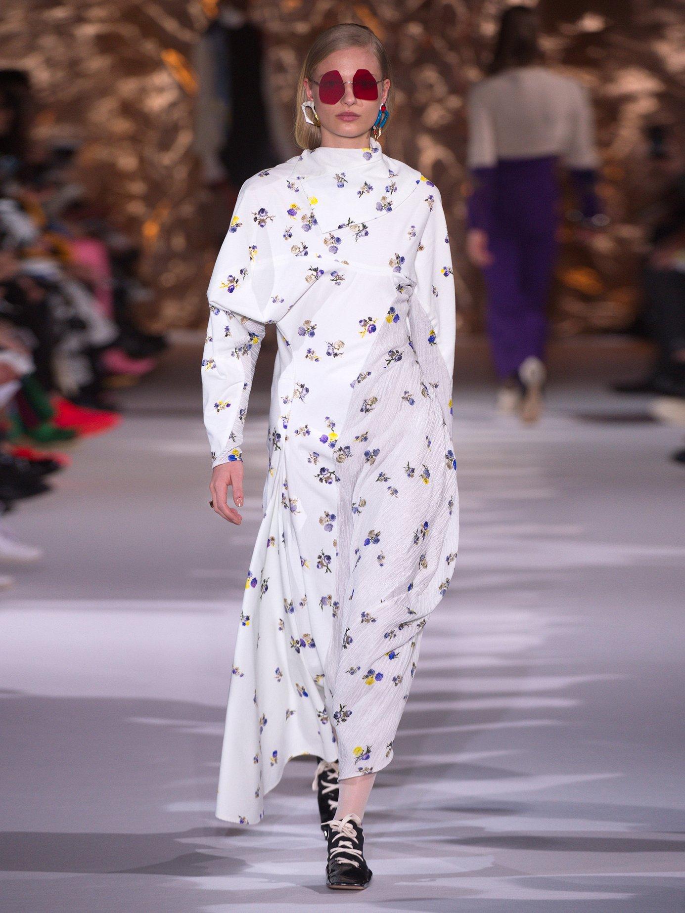 Dragica floral-print cotton-corduroy dress by Acne Studios