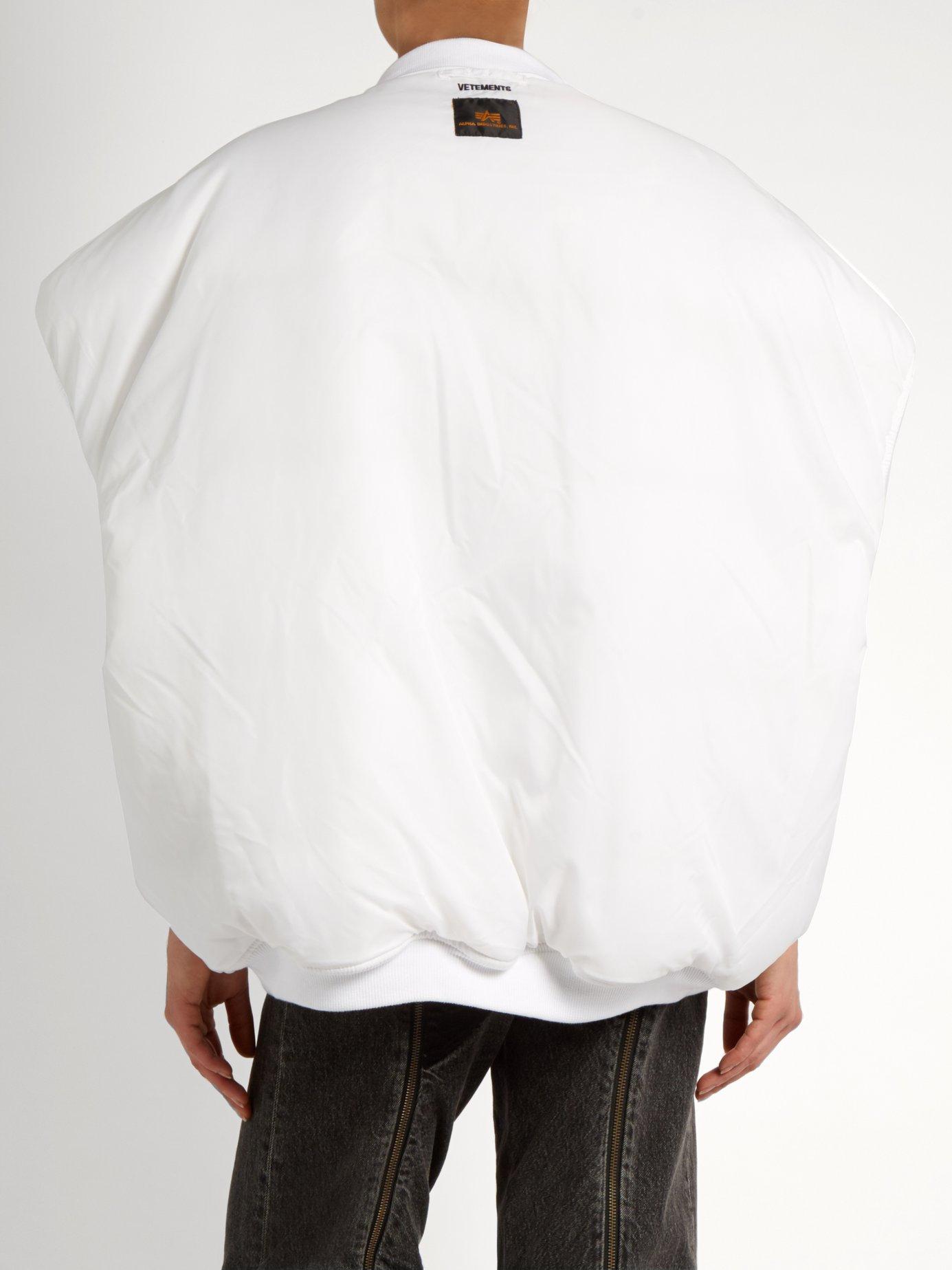 X Alpha Industries sleeveless bomber jacket by Vetements
