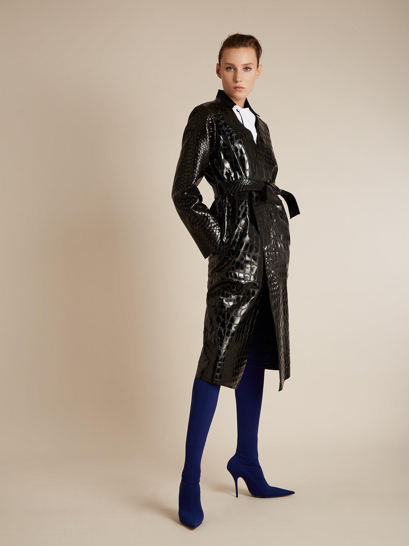 Sivian contrast-panel linen-blend shirtdress by Blouse