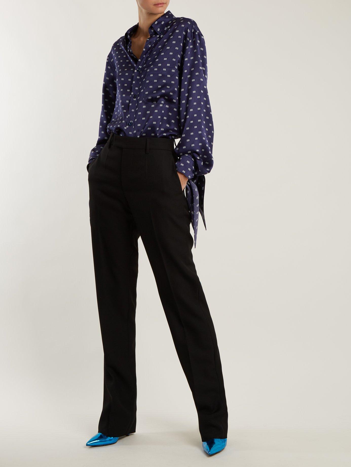 Knotted-cuff shirt by Balenciaga