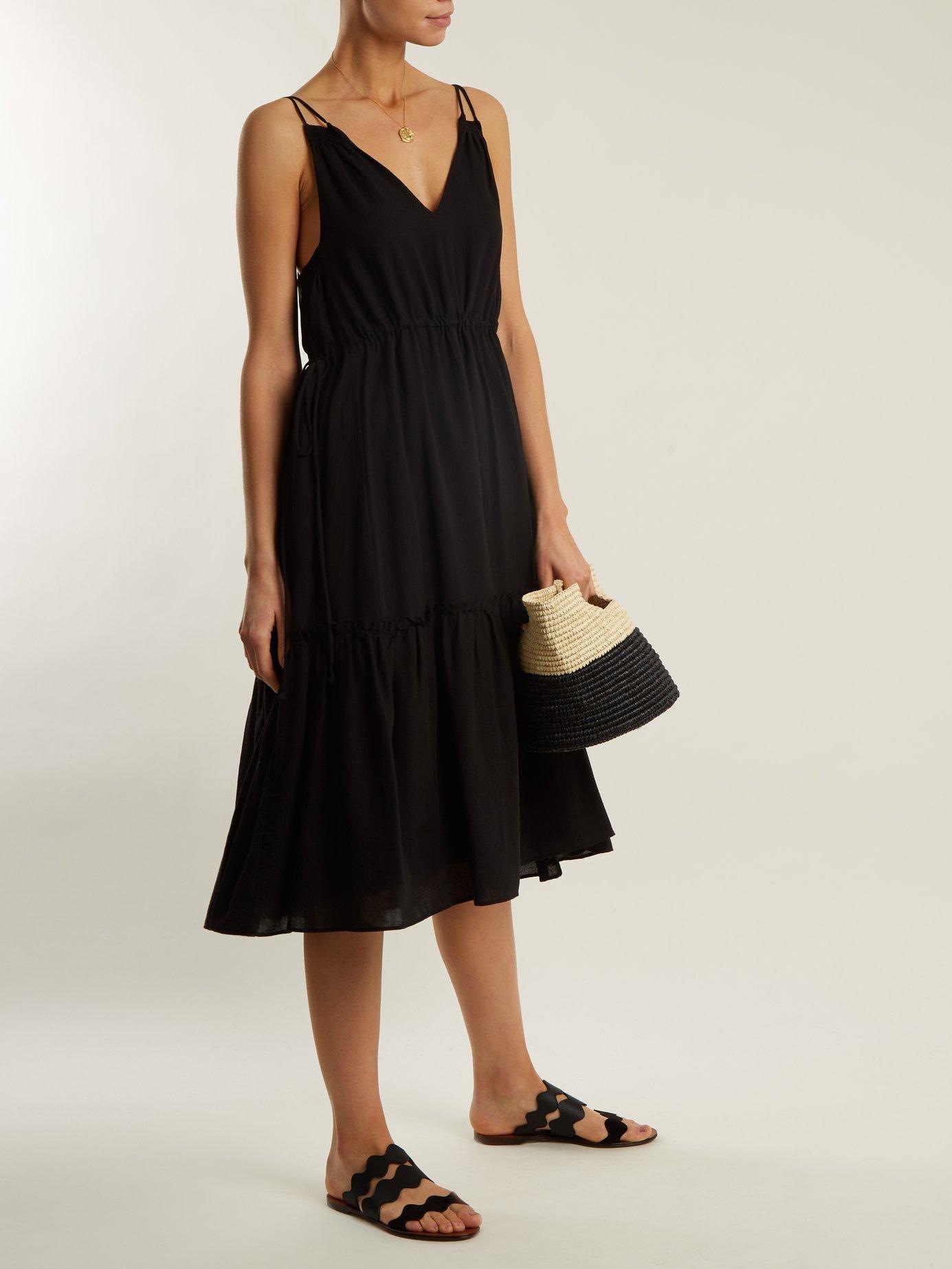 Daphne tiered cotton dress by Apiece Apart