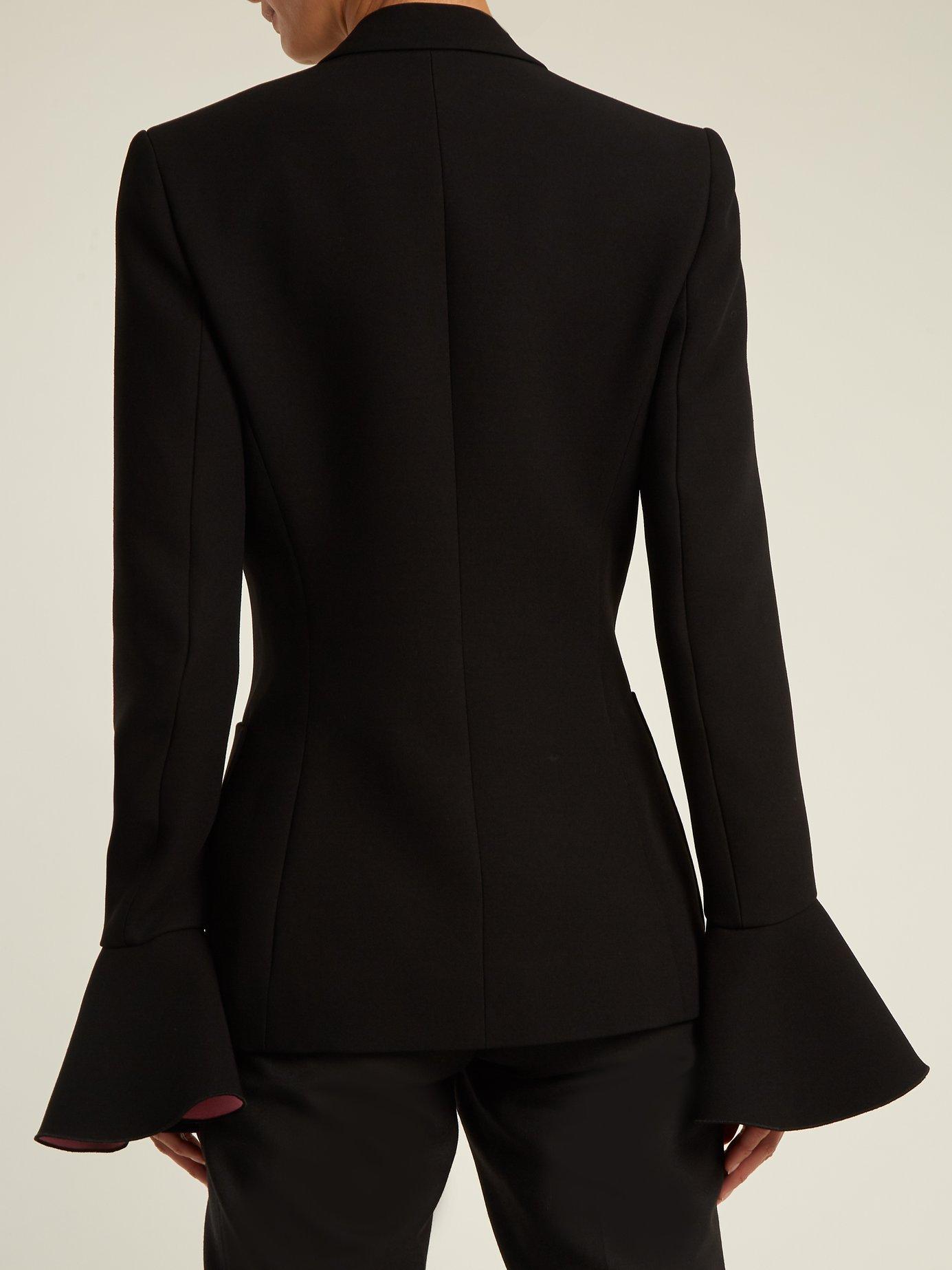 Riva bell-sleeved crepe blazer by Roksanda