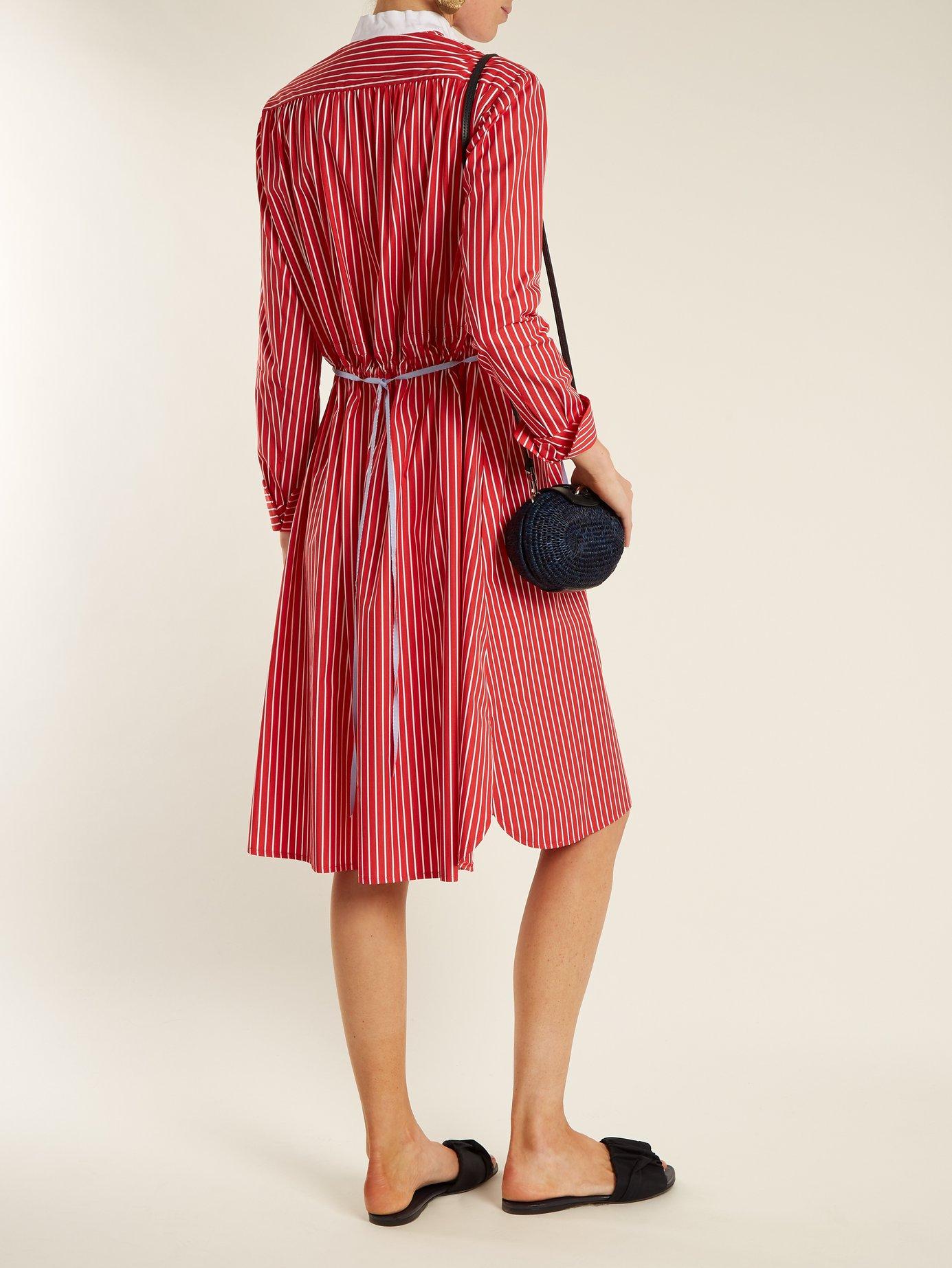 Frankie striped cotton-poplin shirtdress by Dovima Paris