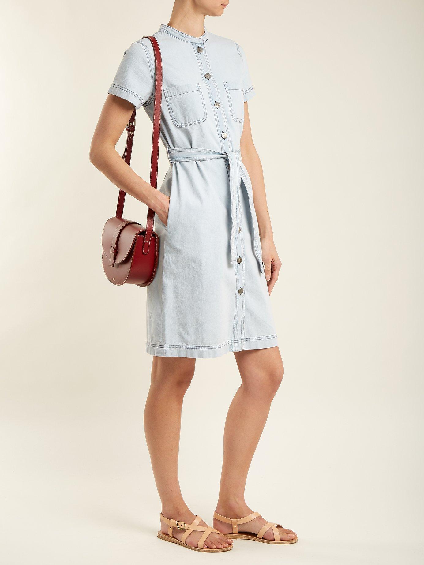 Kornfield tie-waist denim dress by M.I.H Jeans