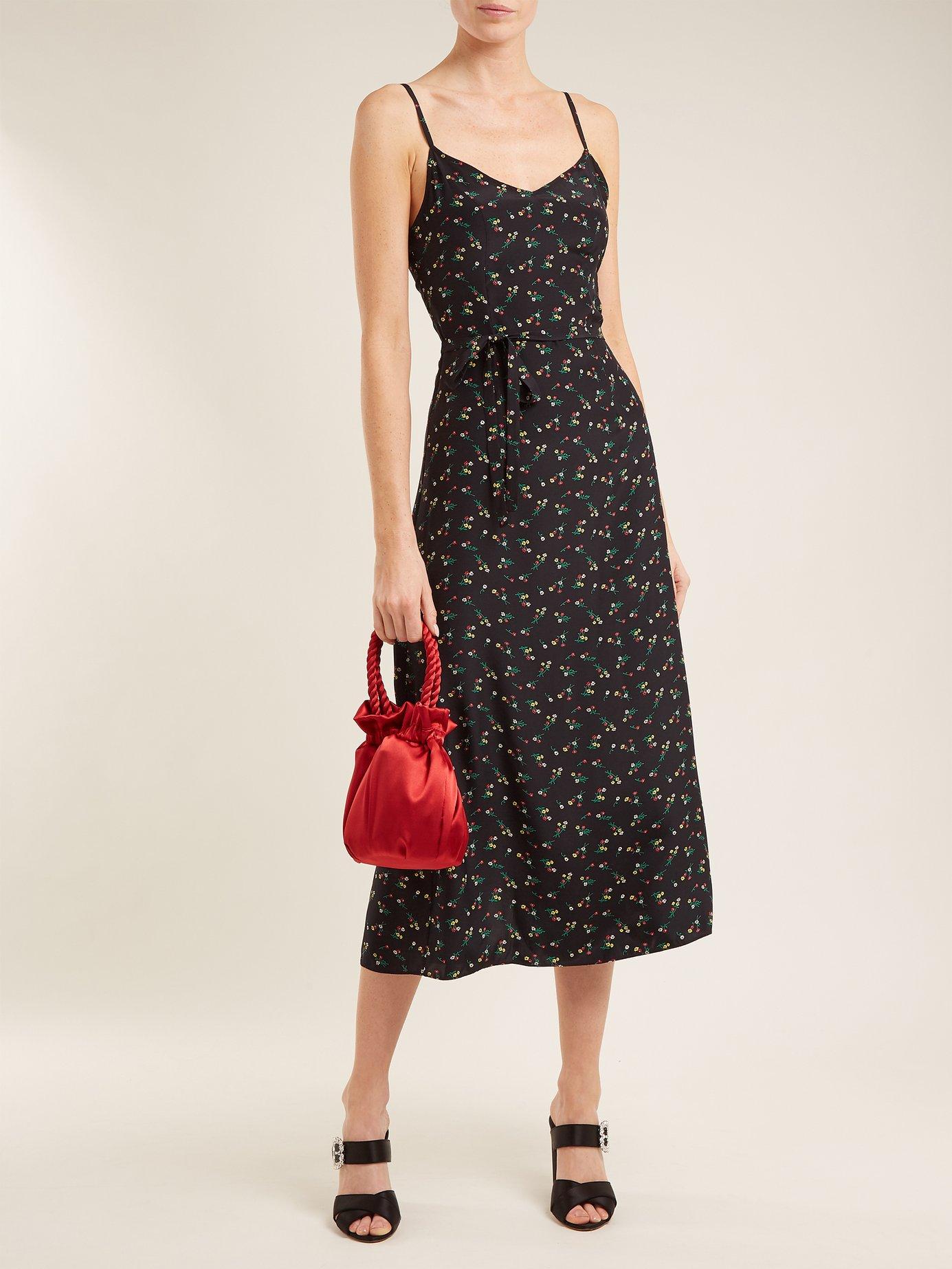 Josephine floral-print silk long dress by Hvn