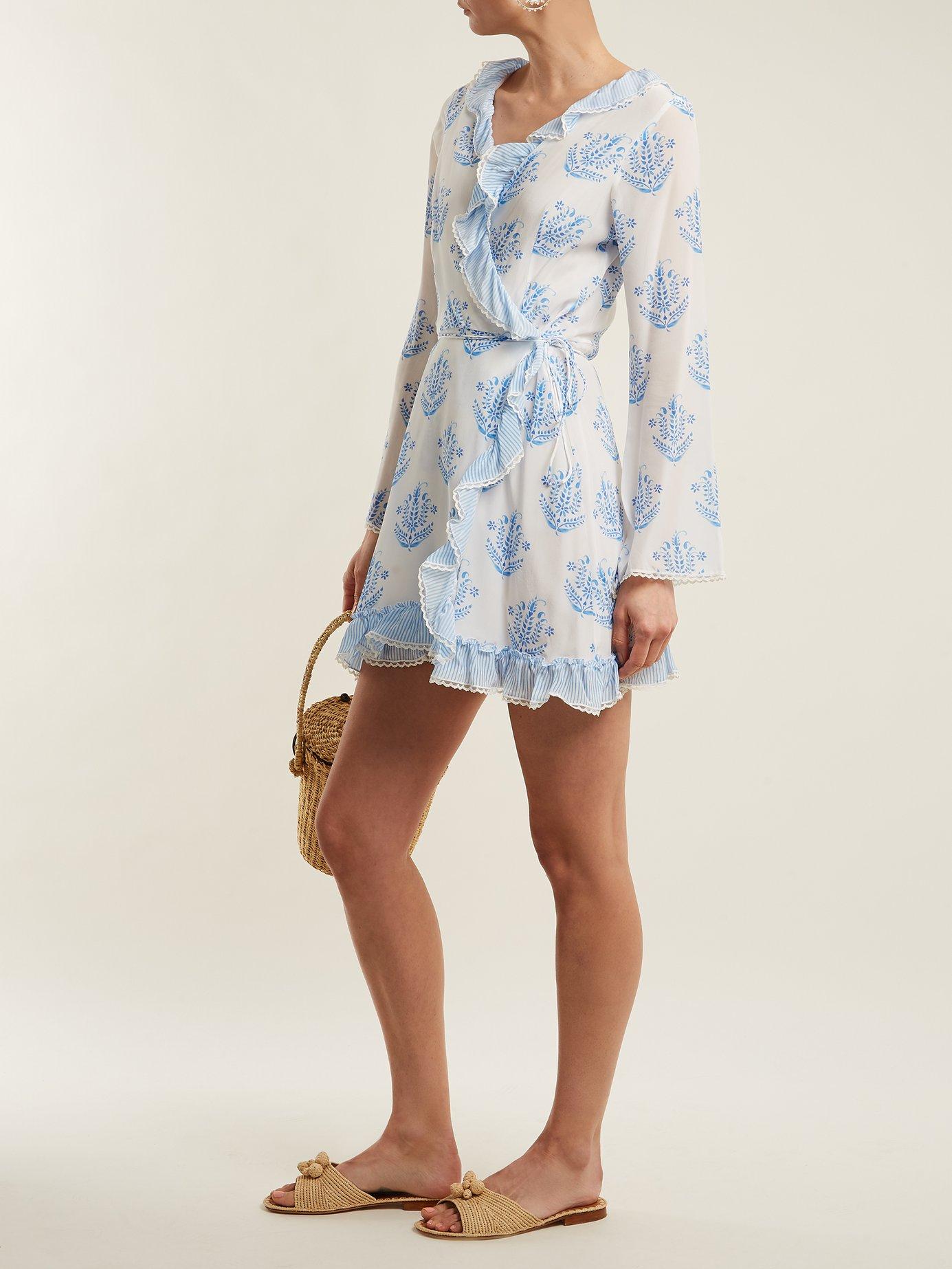 Vagabond long-sleeve wrap dress by Athena Procopiou