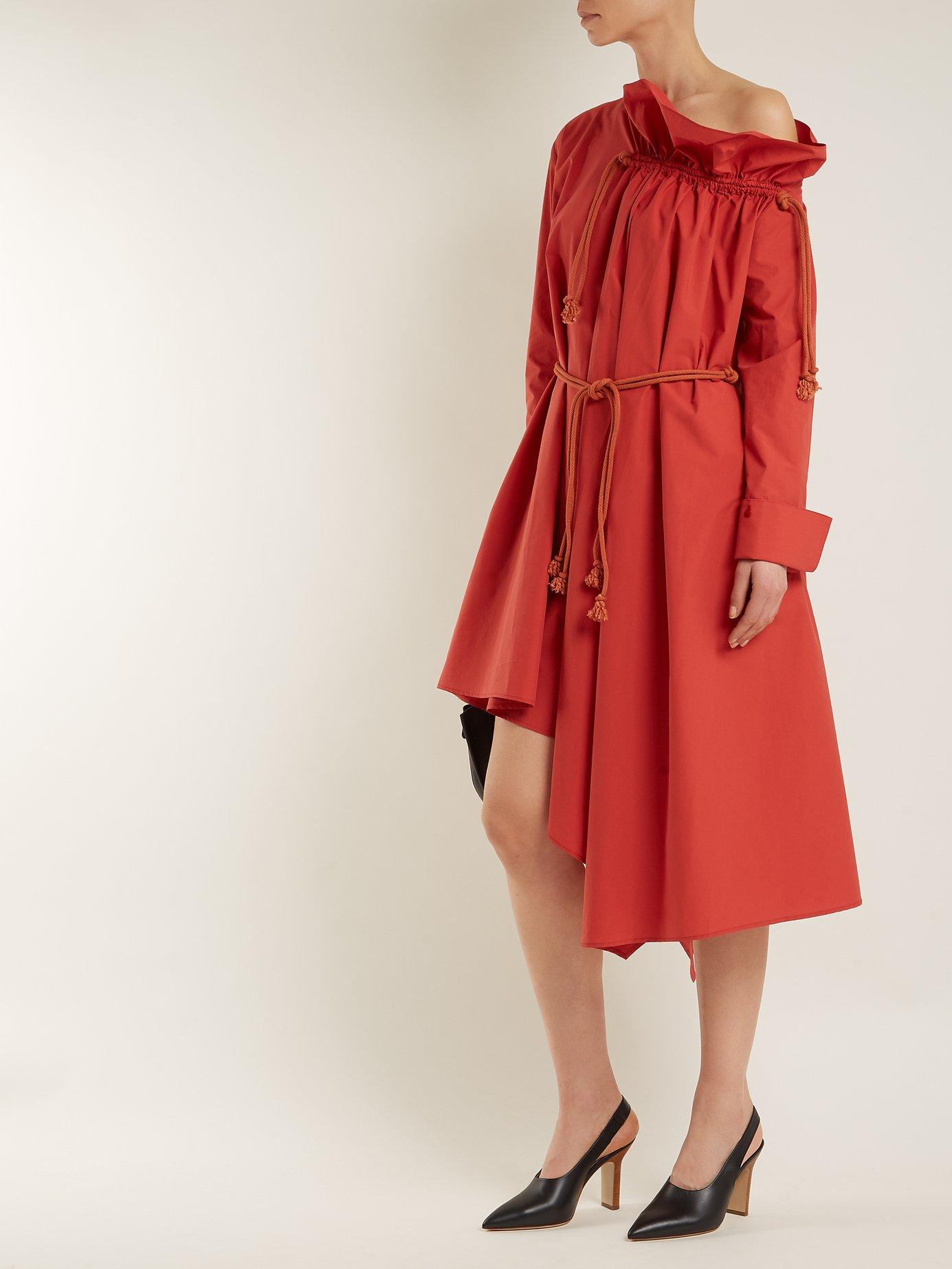 Asymmetric ruffle-neck dress by Palmer/Harding
