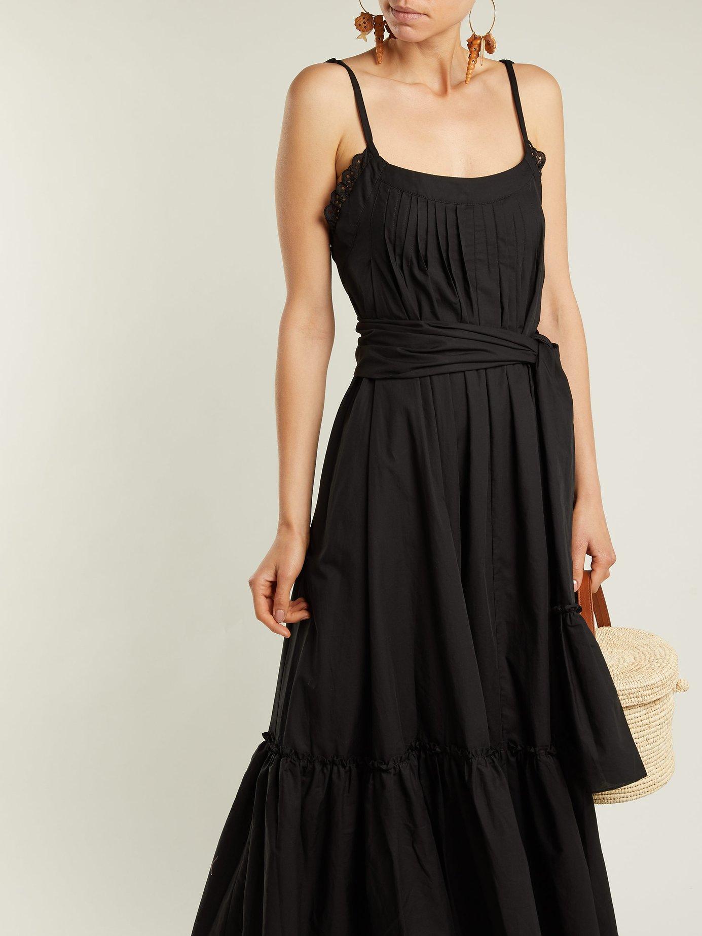 Ariadne pintucked cotton-poplin dress by Three Graces London