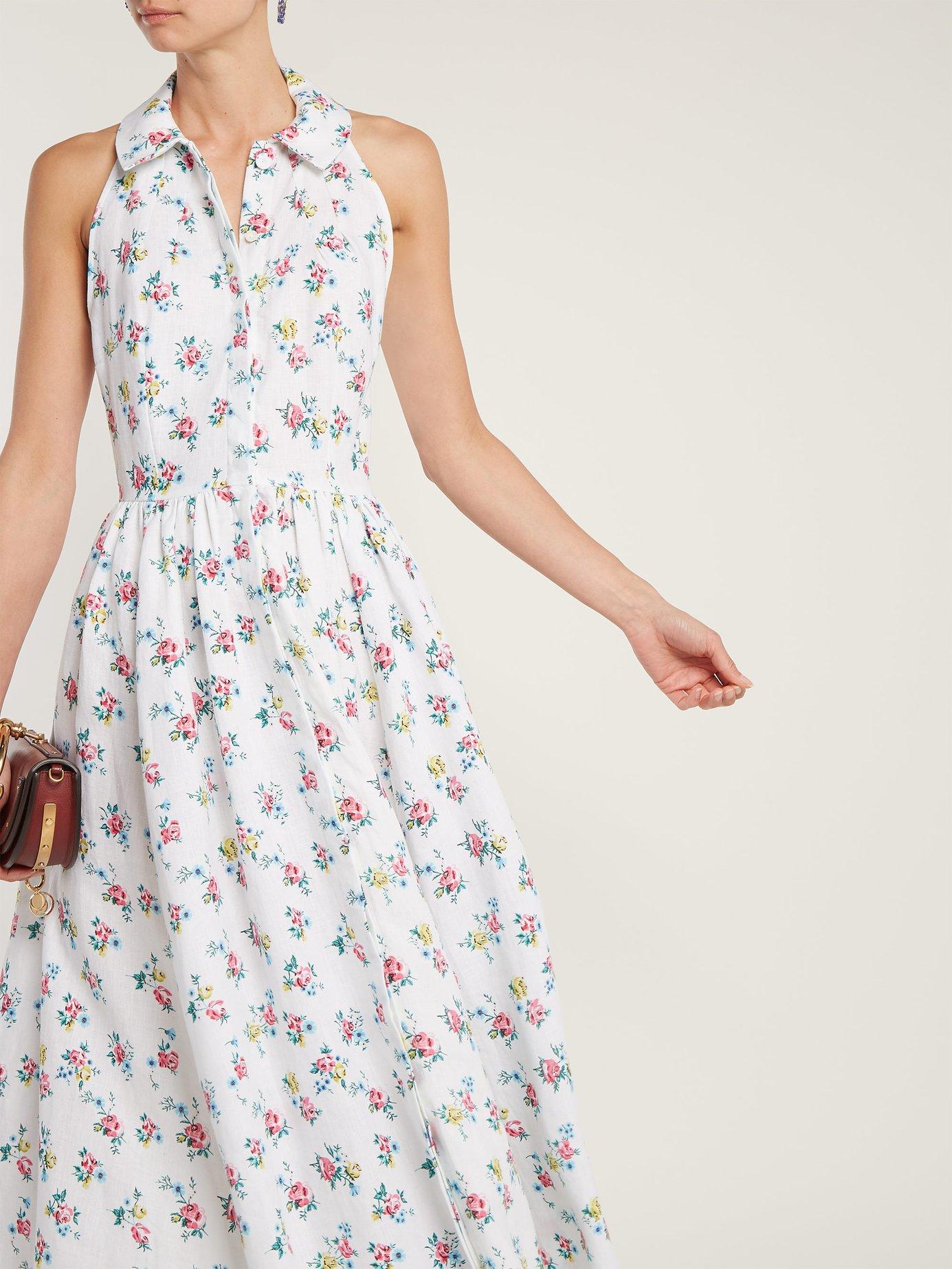 Norika floral-print linen shirtdress by Emilia Wickstead