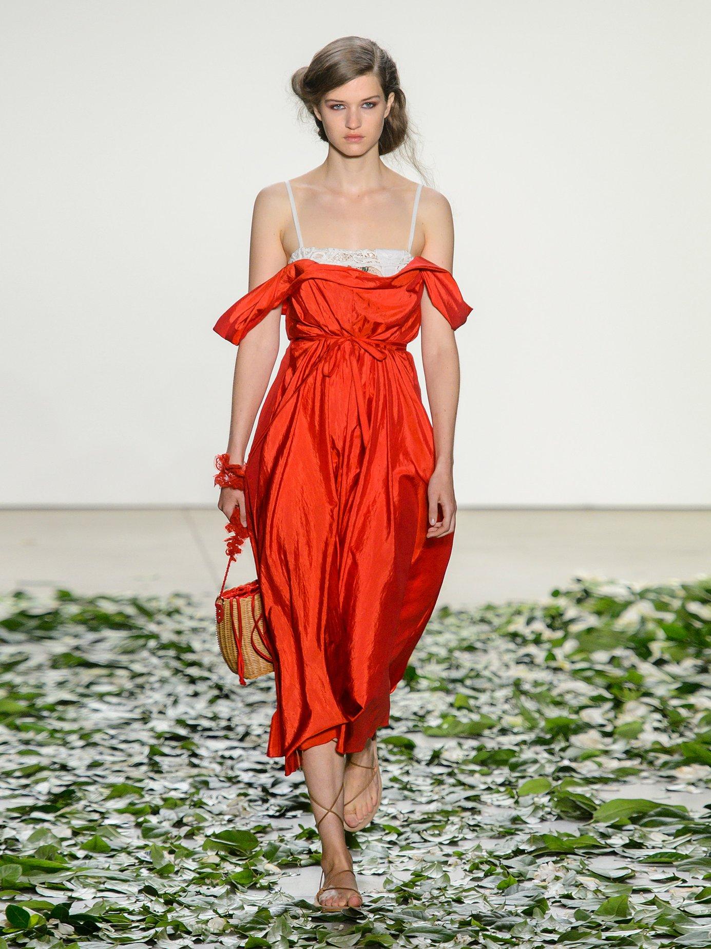 Davi square-neck taffeta dress by Brock Collection