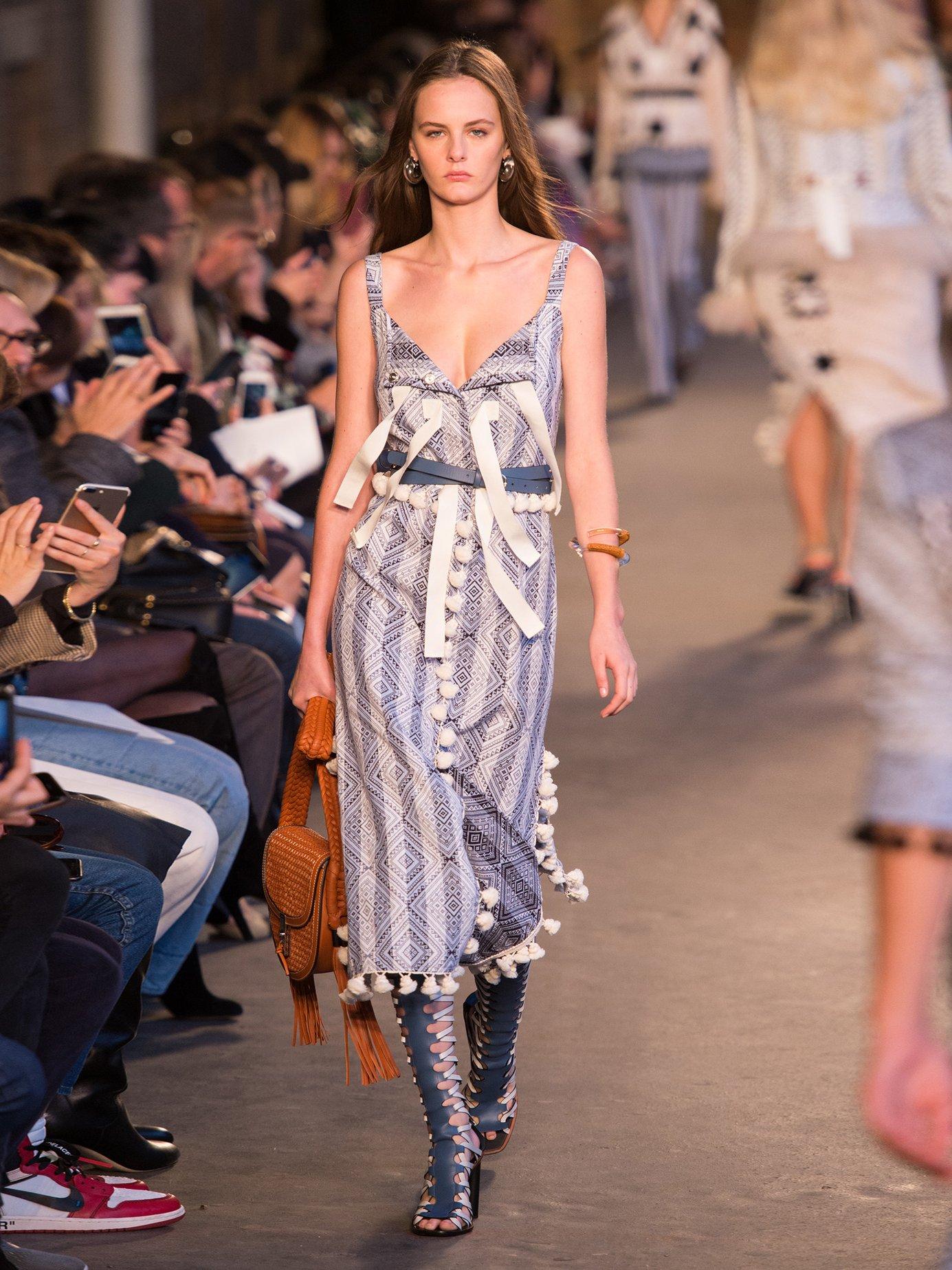 Villette tassel-trimmed diamond-jacquard dress by Altuzarra