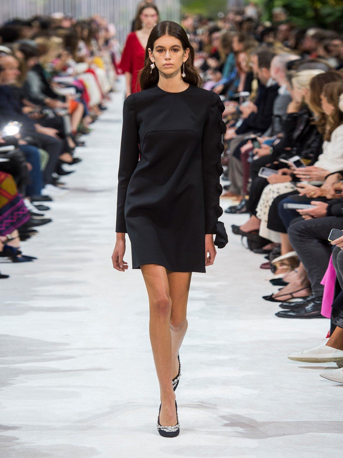 Round-neck wool-cady dress by Valentino
