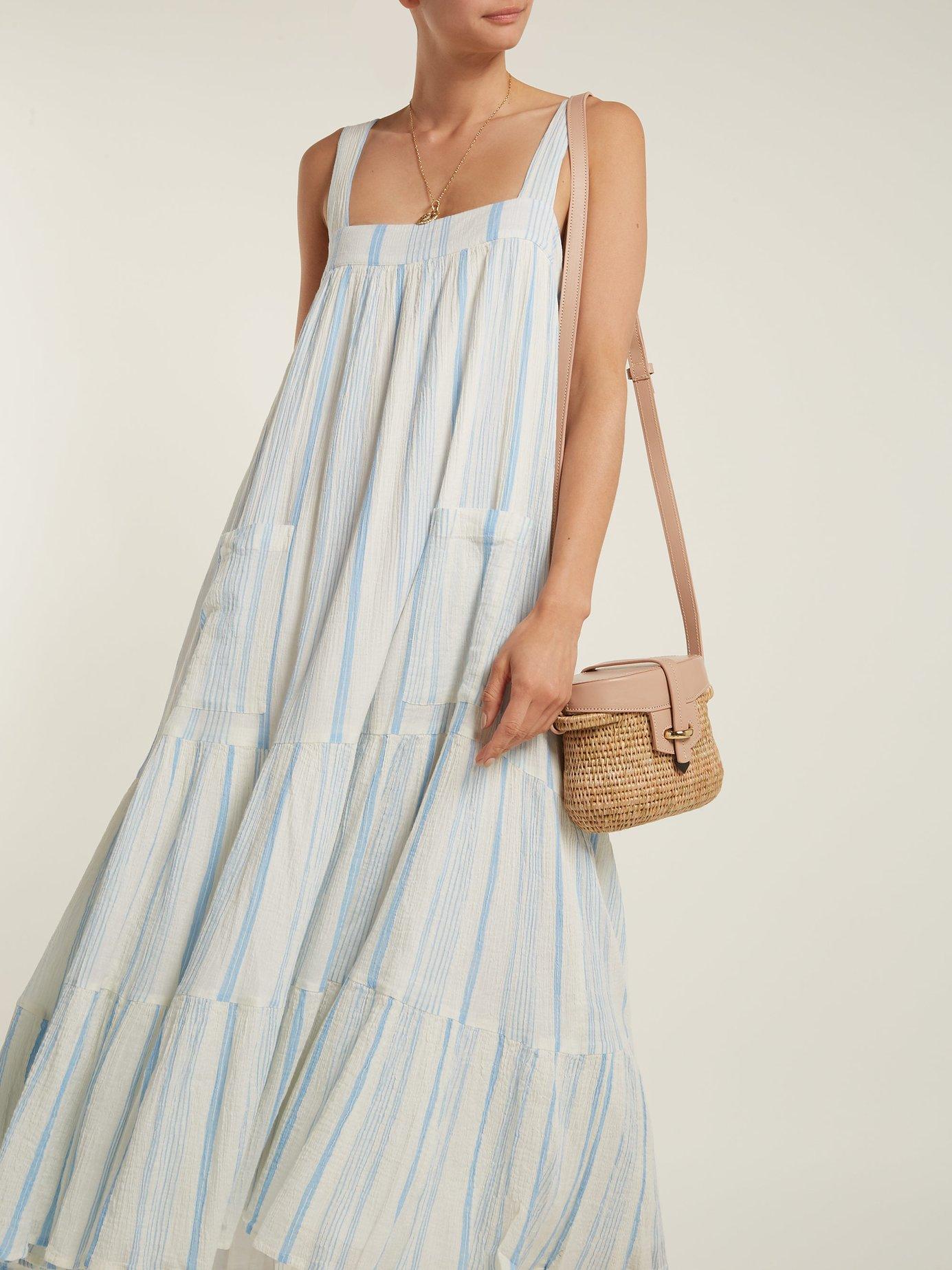 Tiered halter-neck cotton dress by Apiece Apart