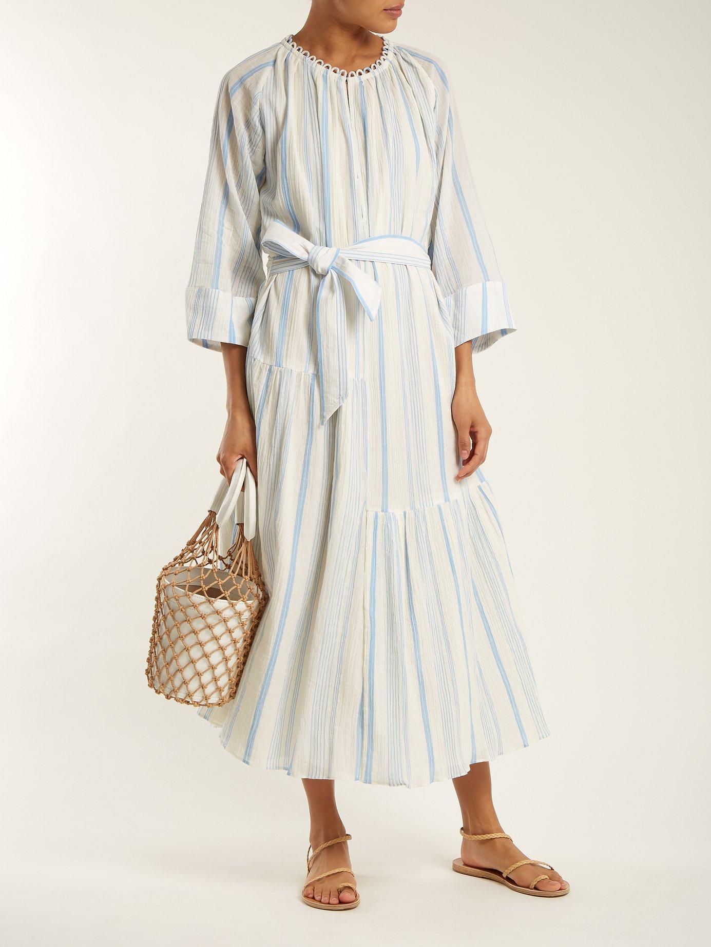 Stella striped cotton dress by Apiece Apart