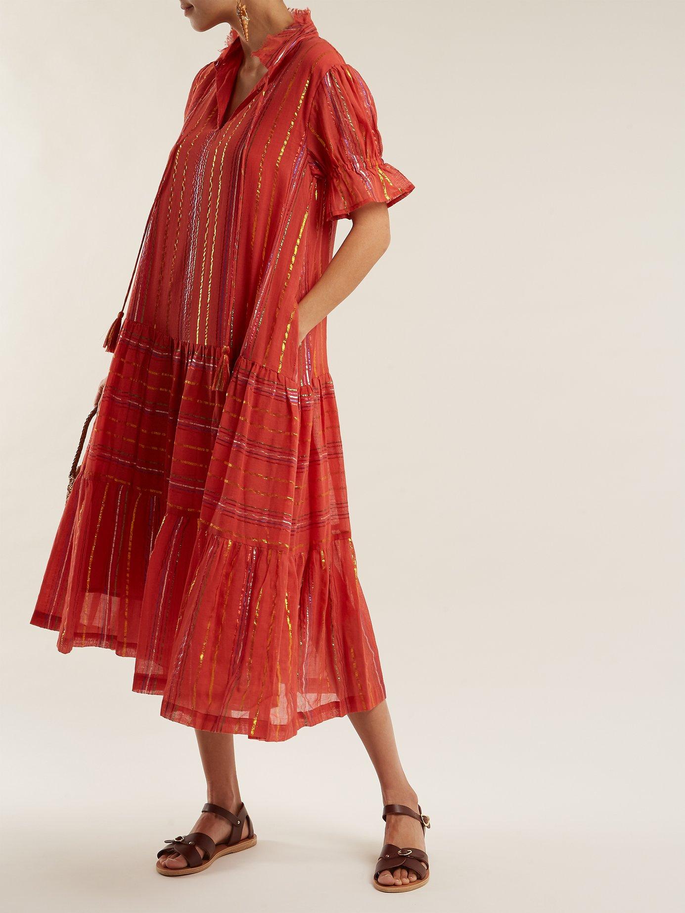 Los Altos striped cotton-blend dress by Apiece Apart