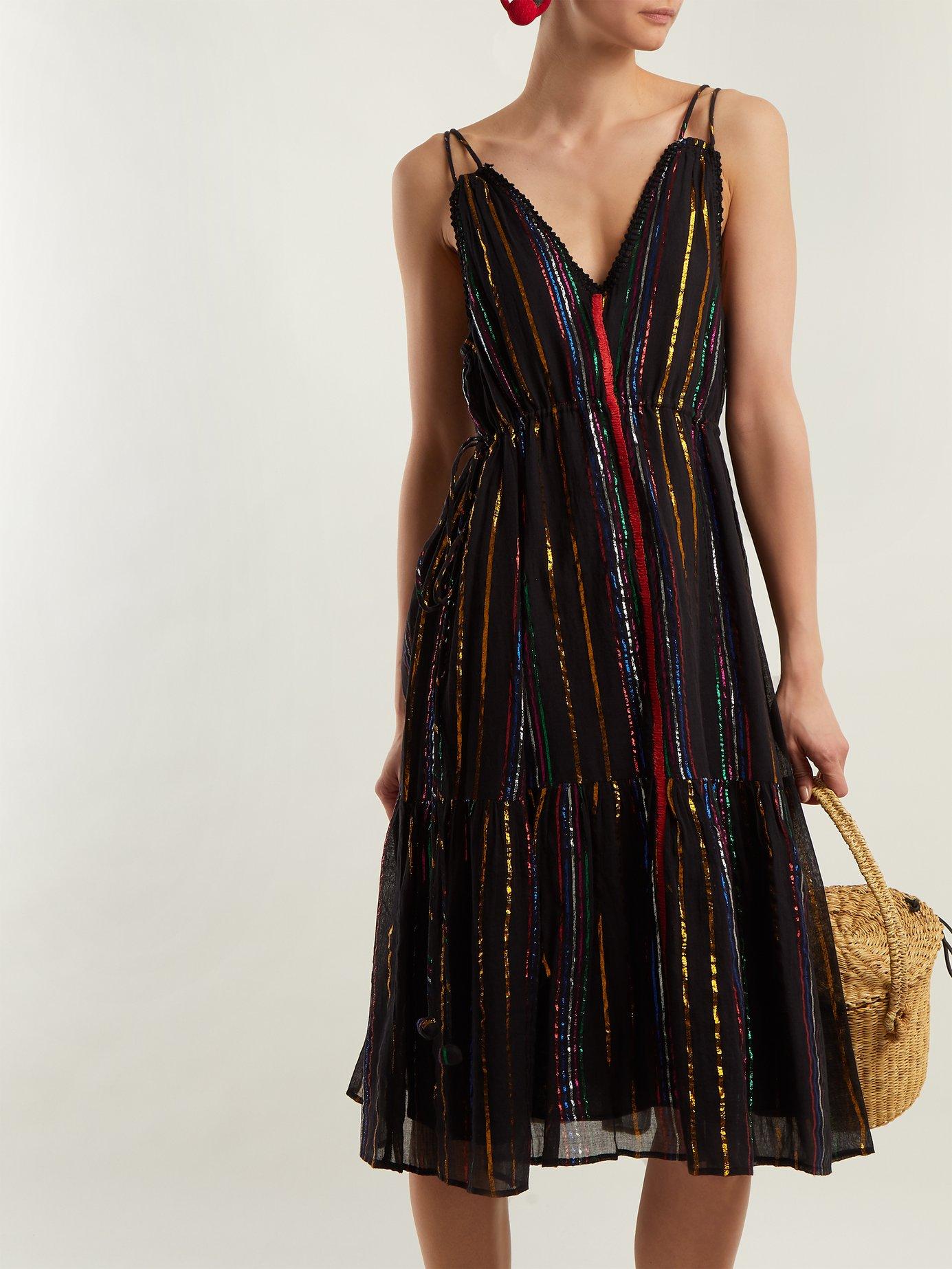 Daphne striped cotton-blend dress by Apiece Apart
