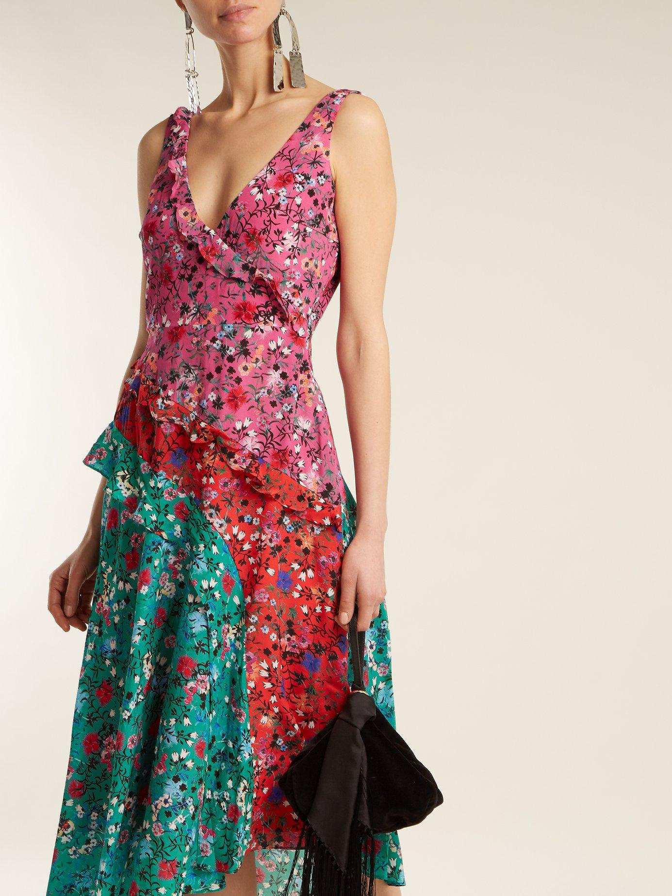 Aggie meadow ruffle dress by Saloni