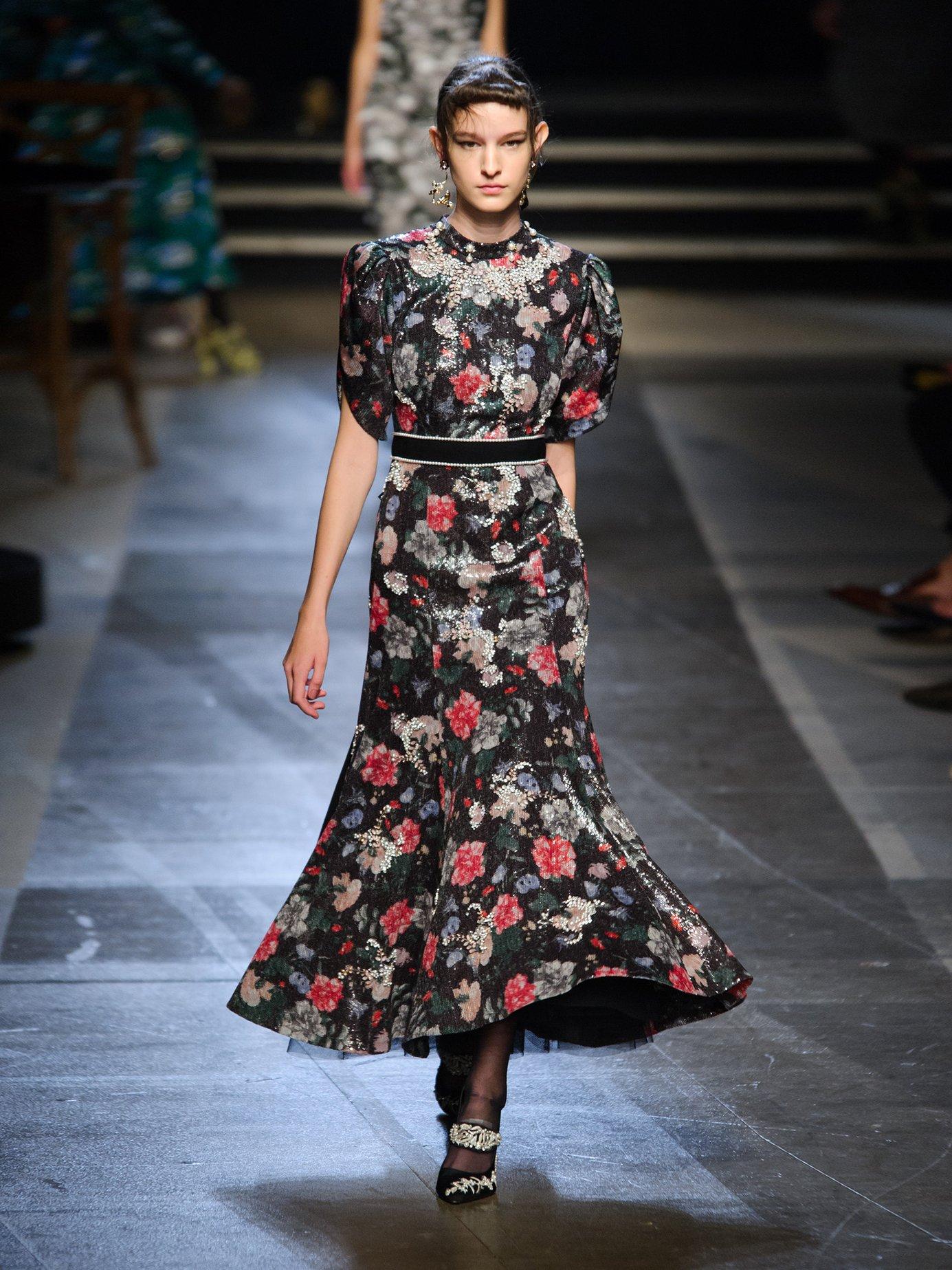 Hael sequin and crystal-embellished dress by Erdem