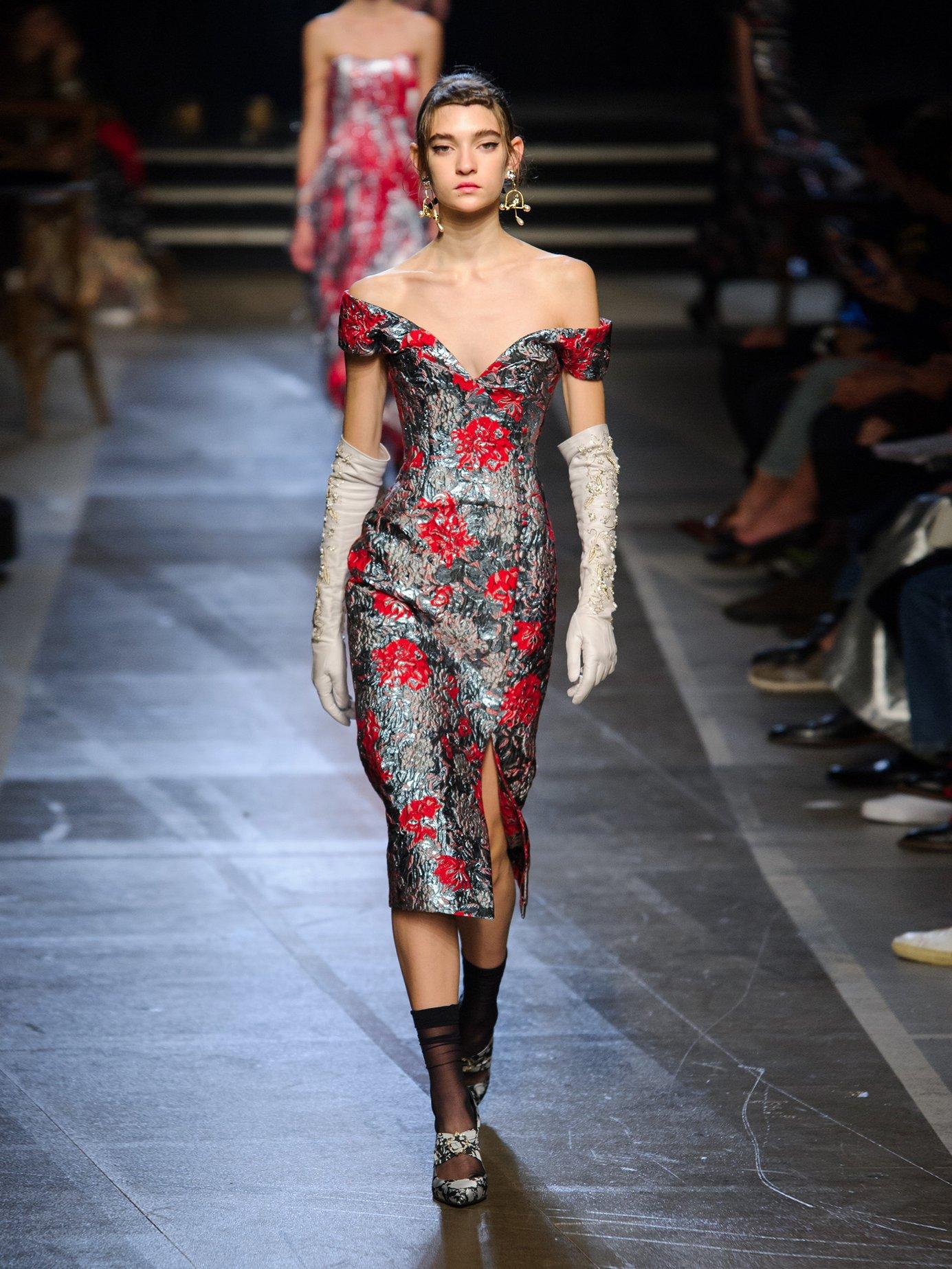 Joyti rose-jacquard dress by Erdem
