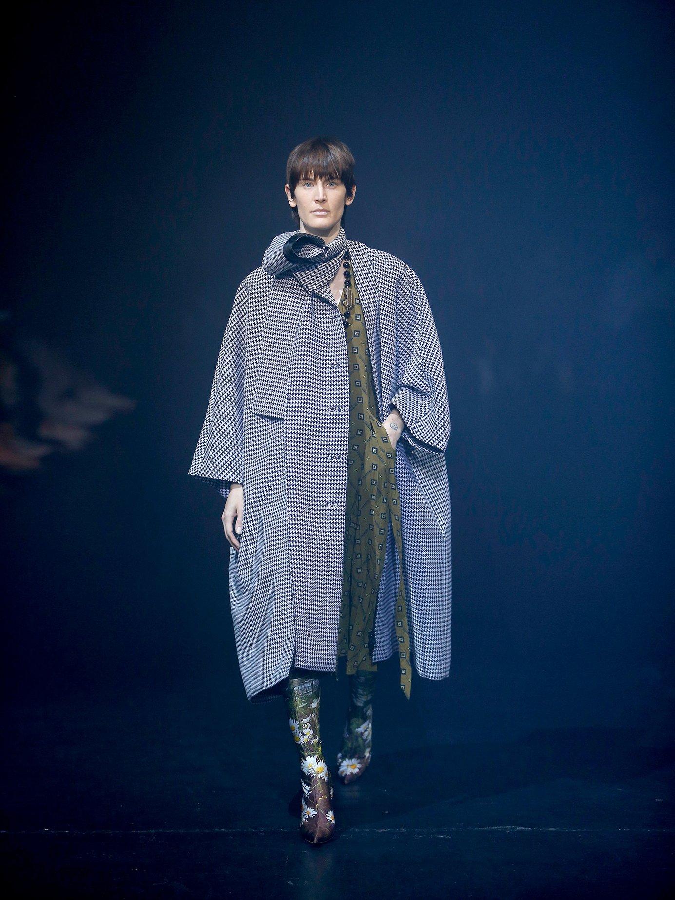 V-neck polka-dot print dress by Balenciaga