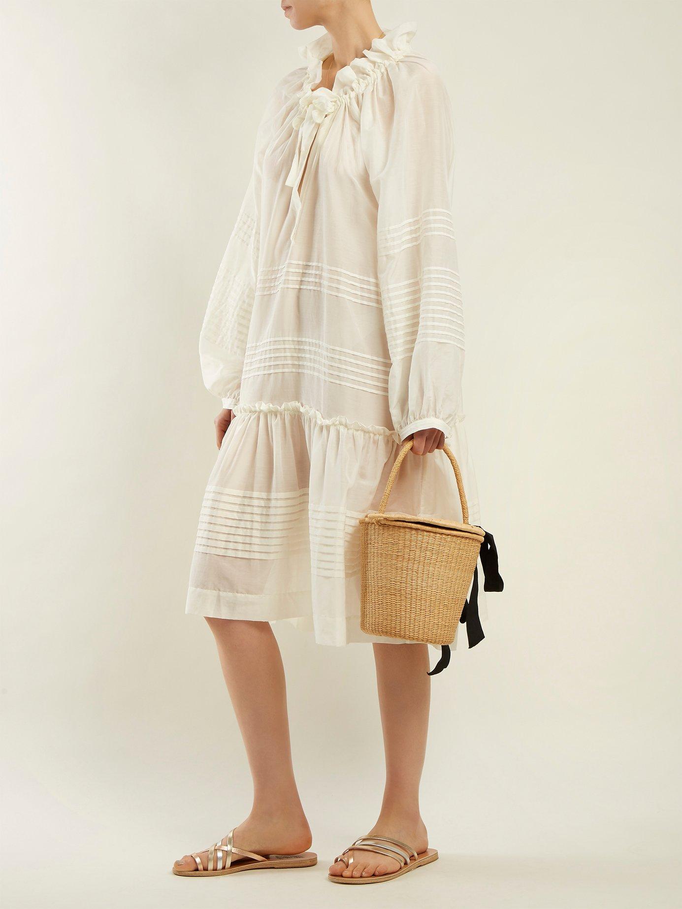 Valentine cotton and silk-blend dress by Lee Mathews