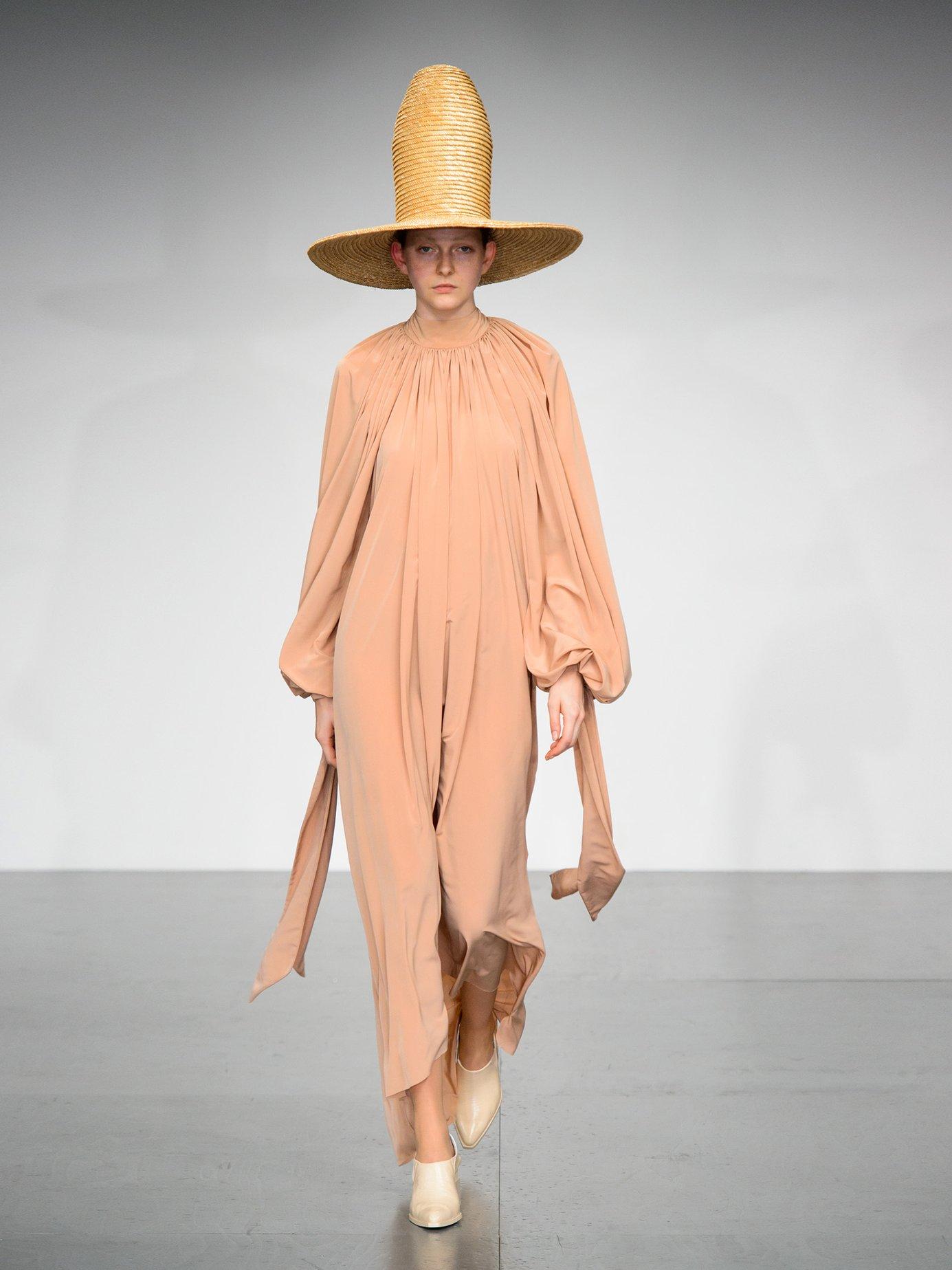 Gathered crepe dress by Sonia Rykiel