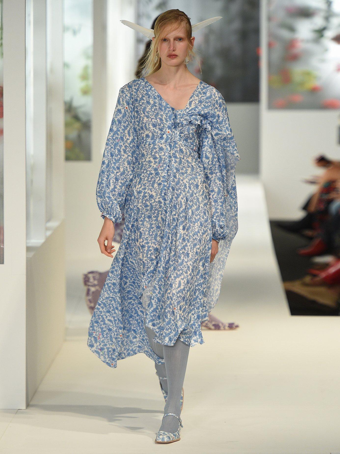 Soeroya floral-print silk-blend dress by Preen By Thornton Bregazzi