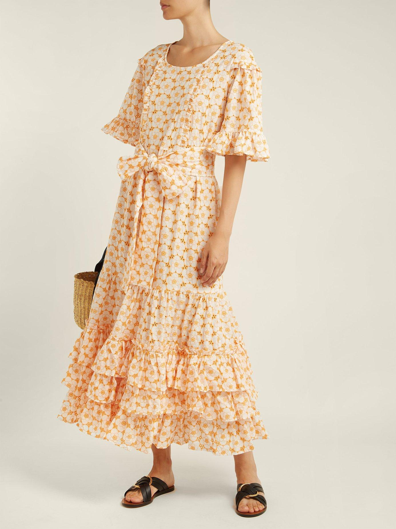 January cotton broderie anglaise midi dress by Lisa Marie Fernandez