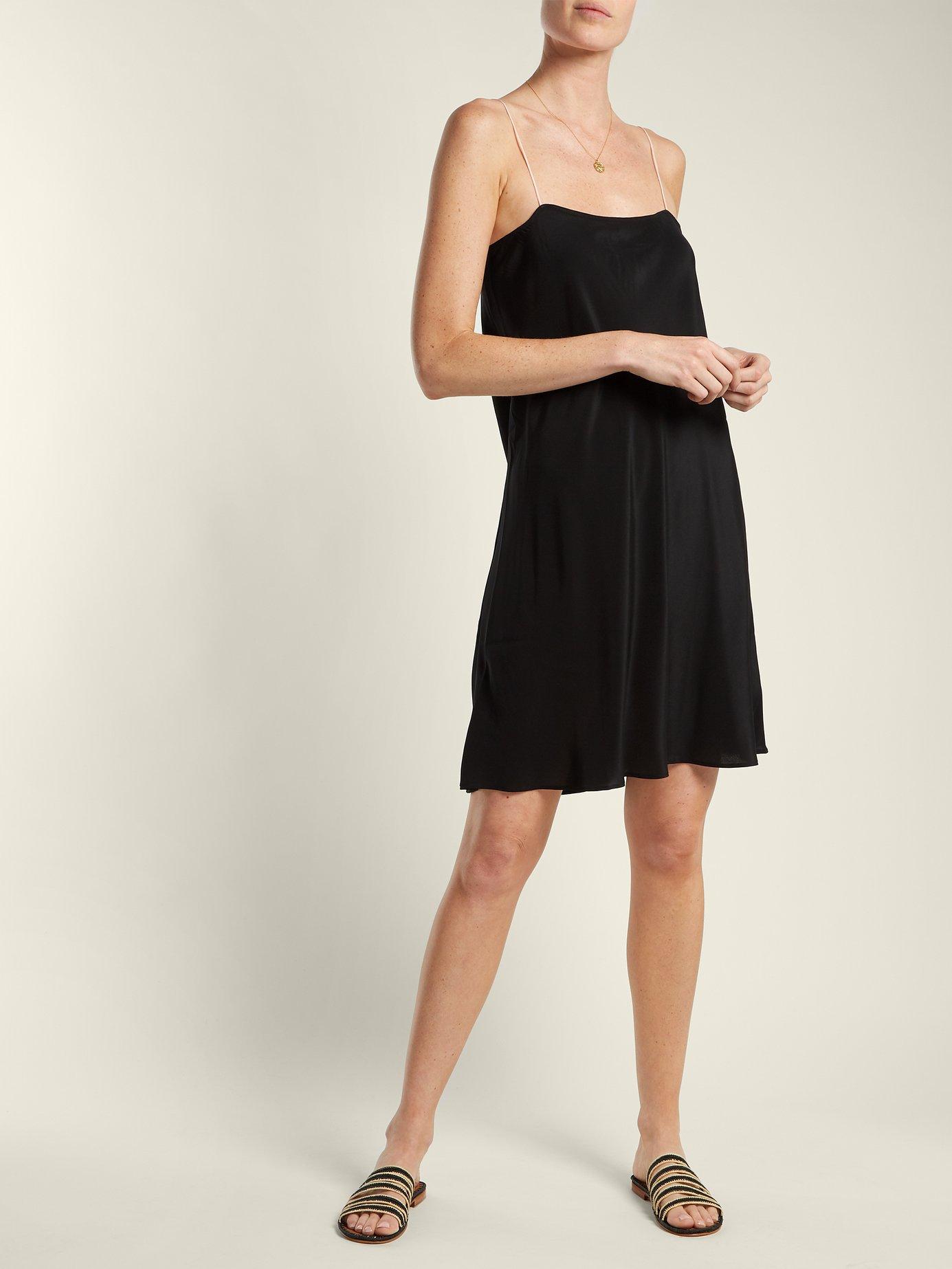 Silk slip dress by Loup Charmant
