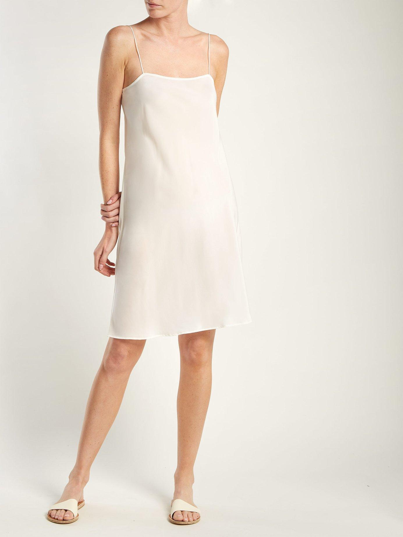 Bias-cut silk slip dress by Loup Charmant