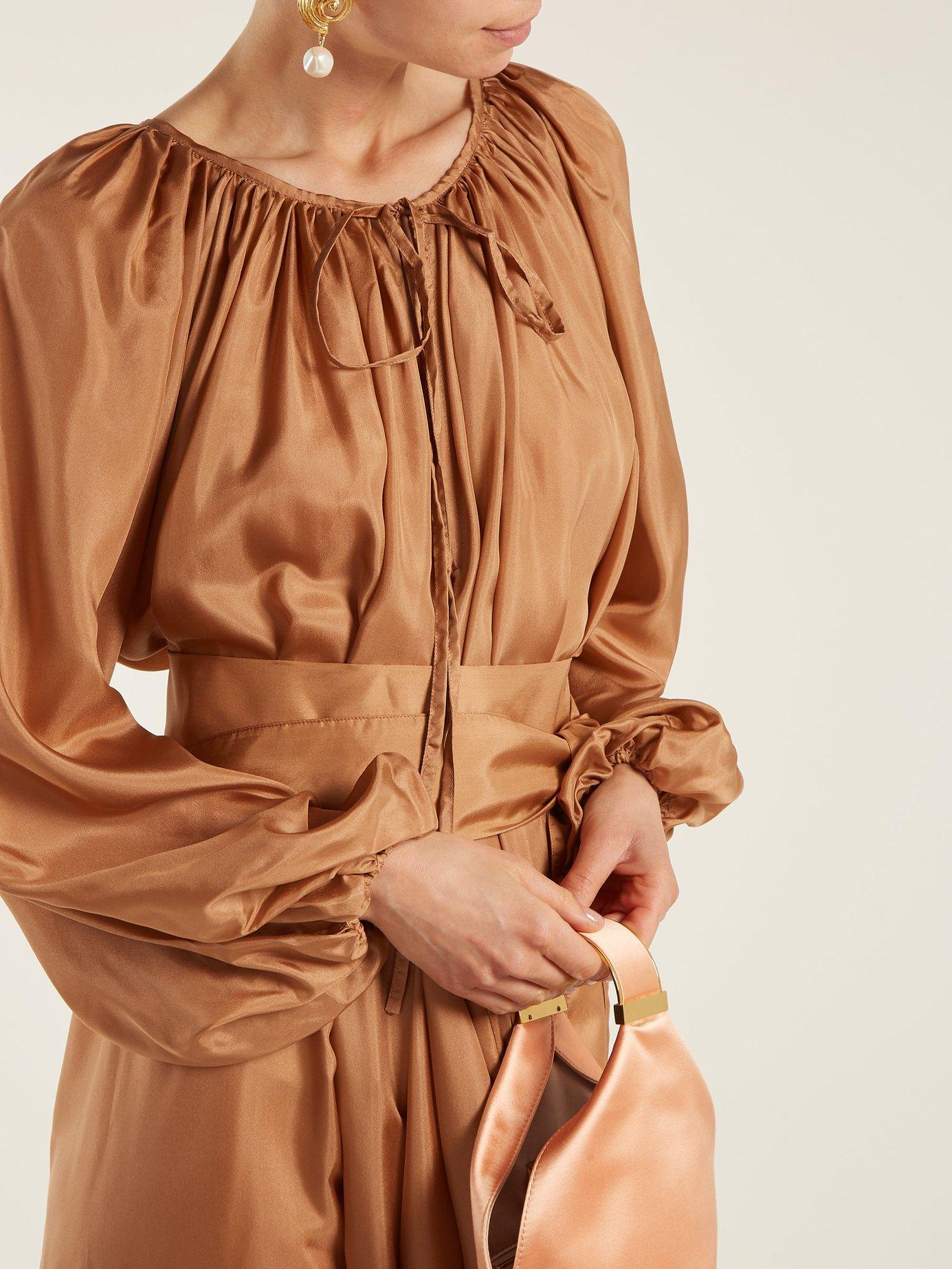 Andromeda silk maxi dress by Kalita