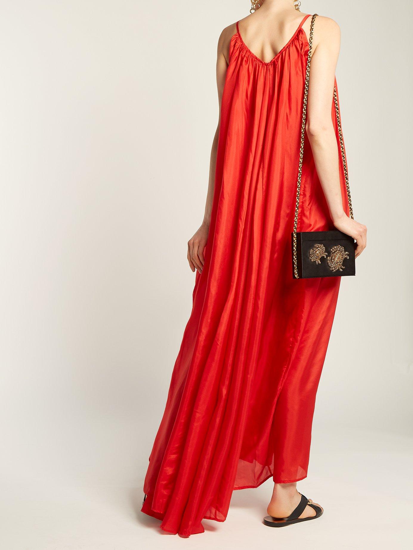 Mercury silk-habotai maxi dress by Kalita