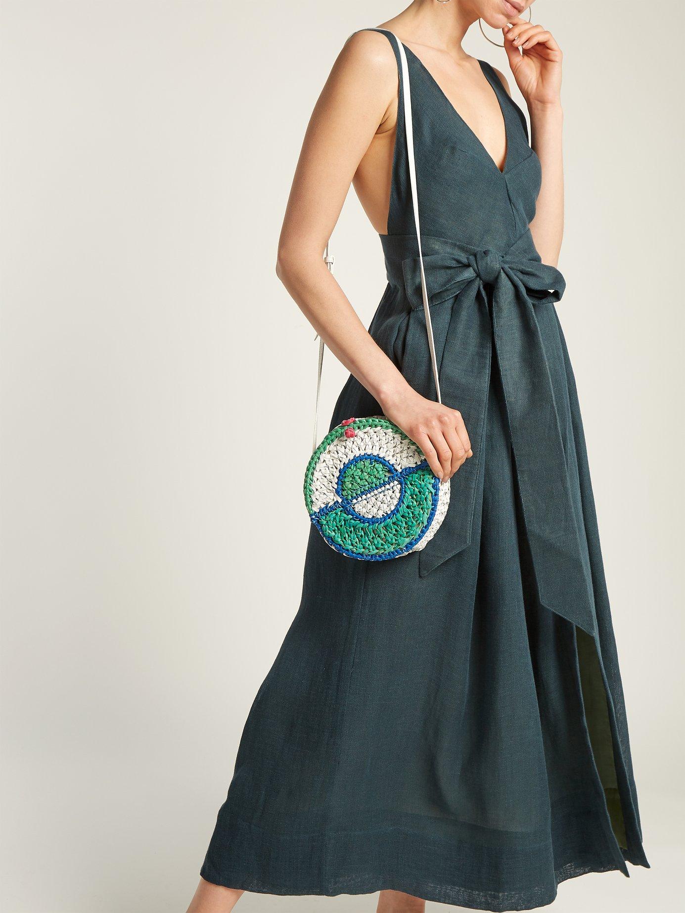 Poet by the Sea tie-waist linen dress by Kalita