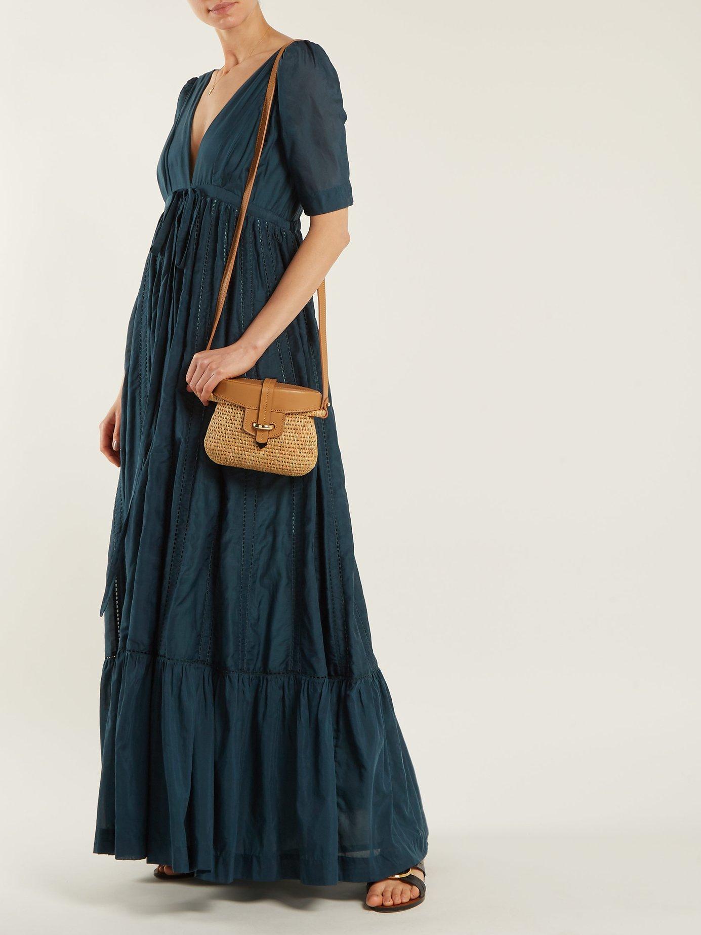 Uschi cotton-blend maxi dress by Kalita