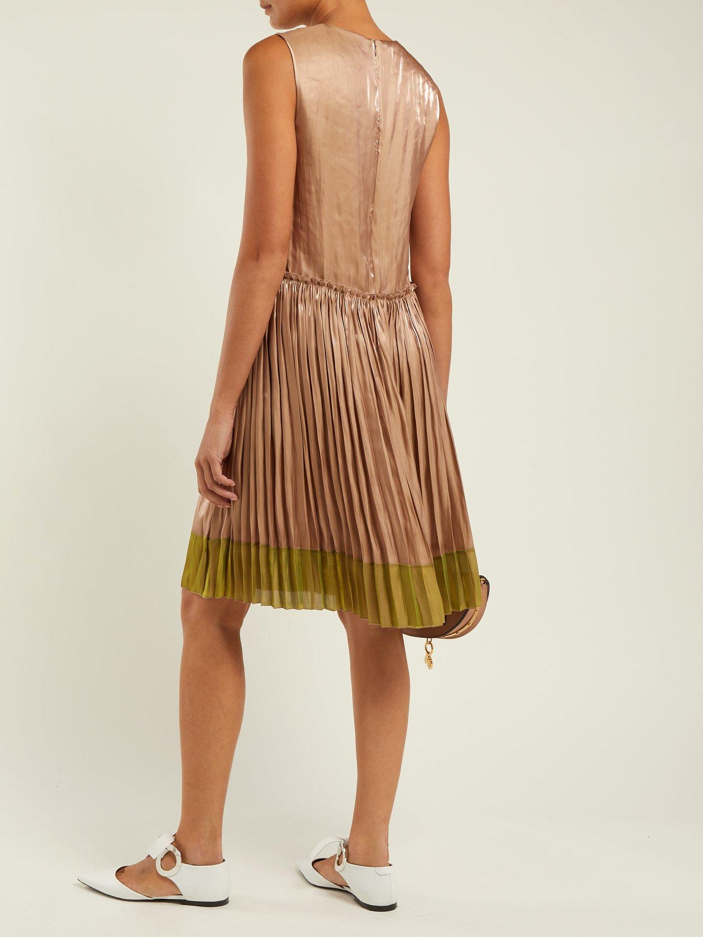 Metallic pleated dress by Redvalentino