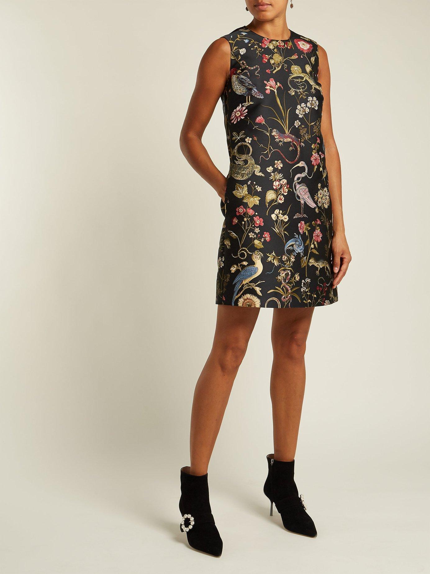 Floral-jacquard shift dress by Redvalentino