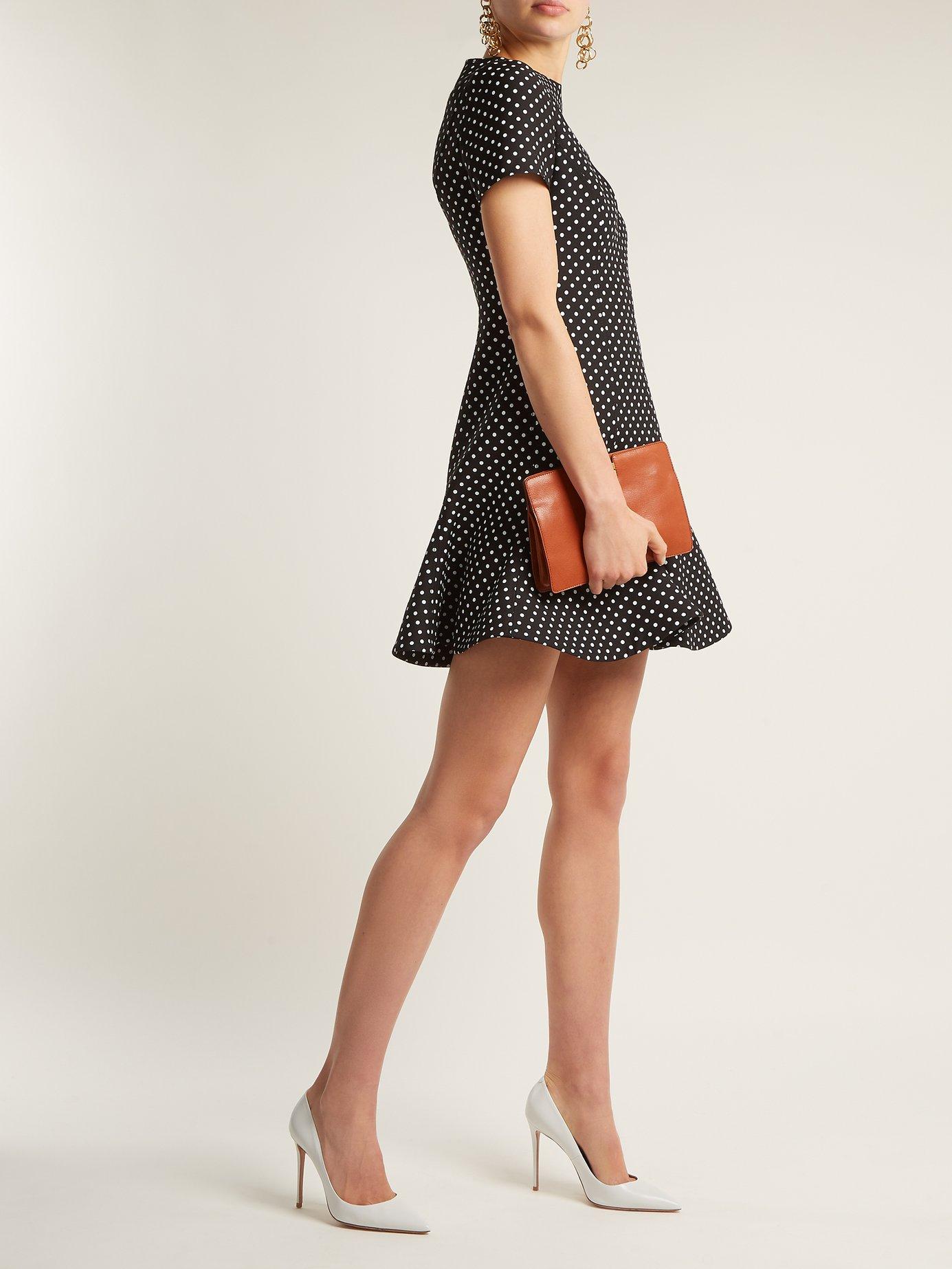 Polka-dot wool-blend dress by Valentino