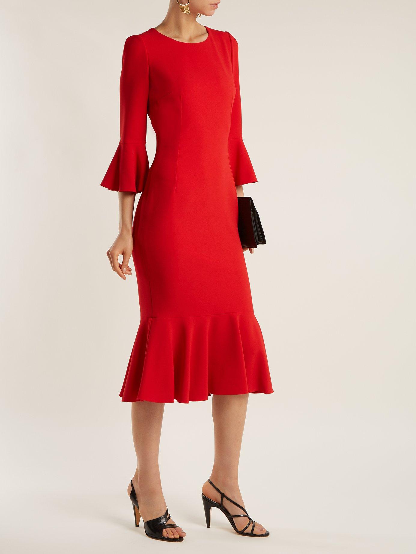 Fluted cady dress by Dolce & Gabbana