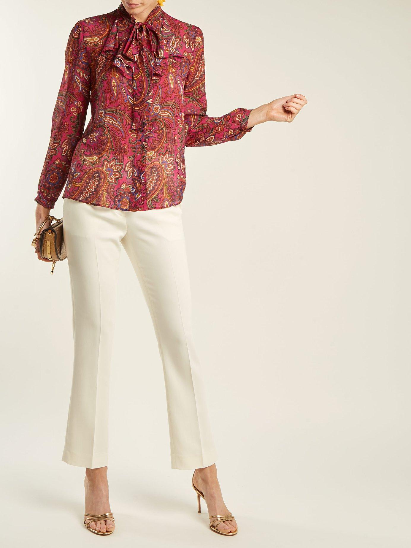 Tiger's Eye paisley-print silk blouse by Etro
