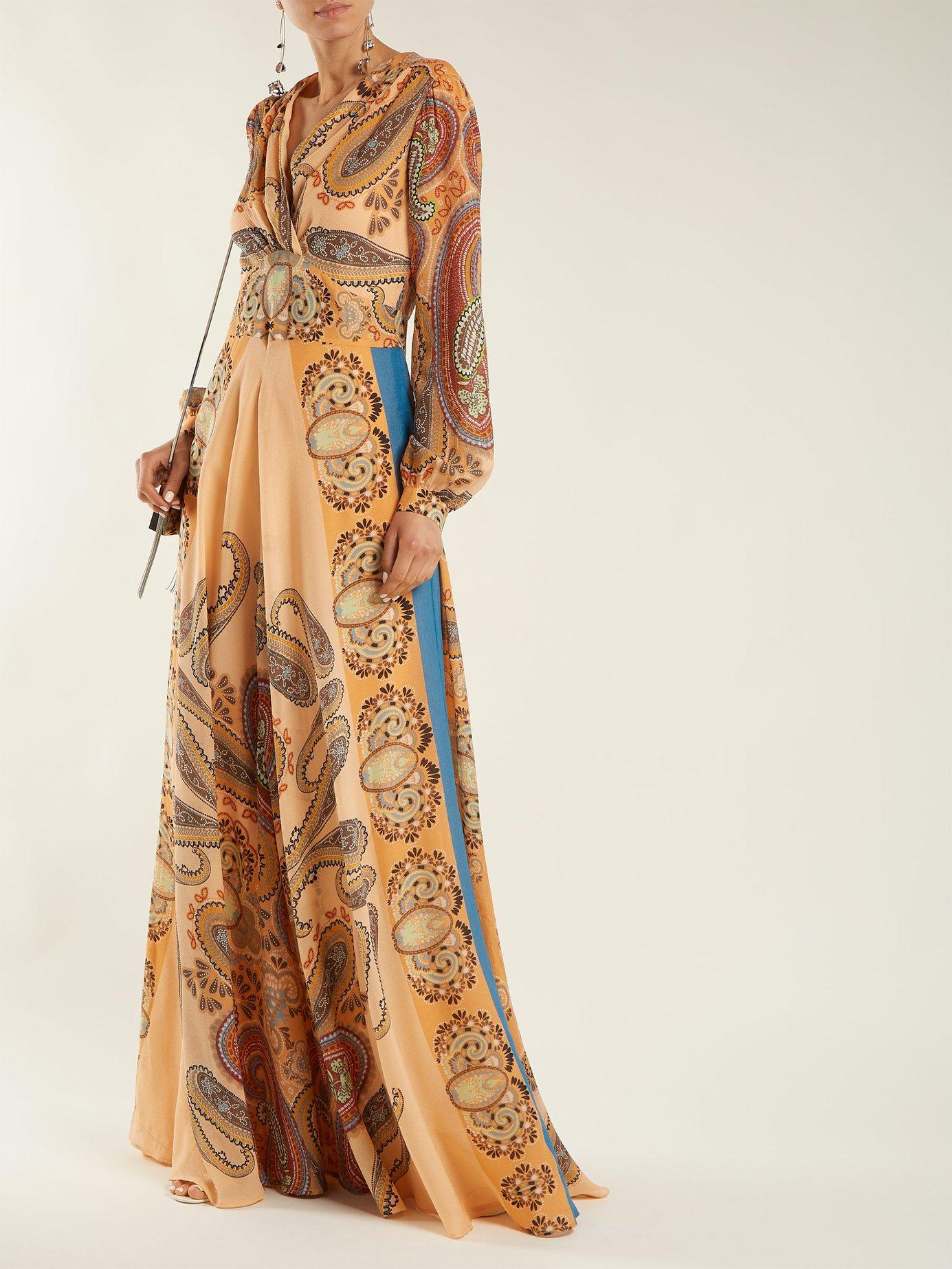 Jasper paisley silk dress by Etro
