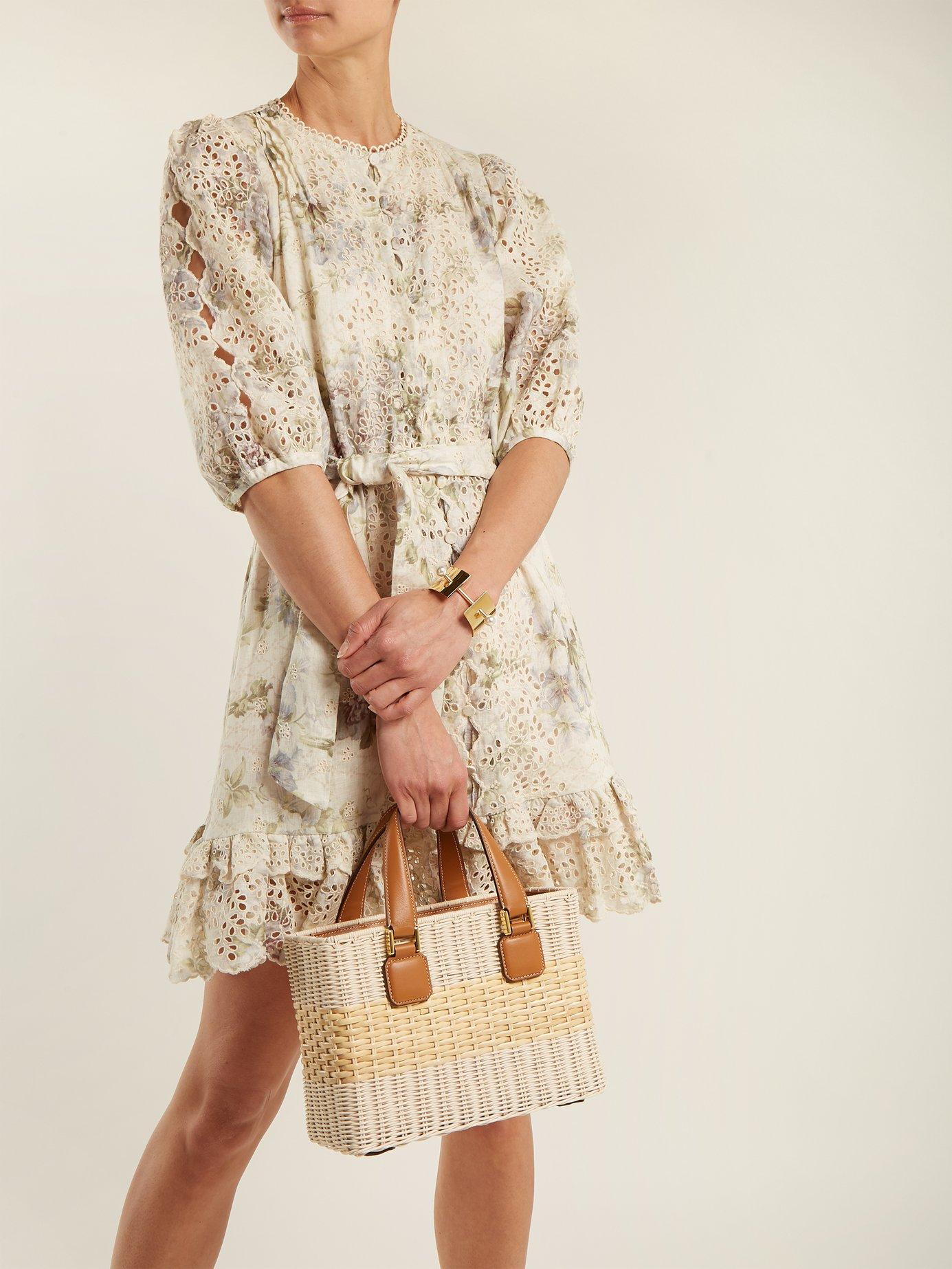 Iris floral-print linen dress by Zimmermann
